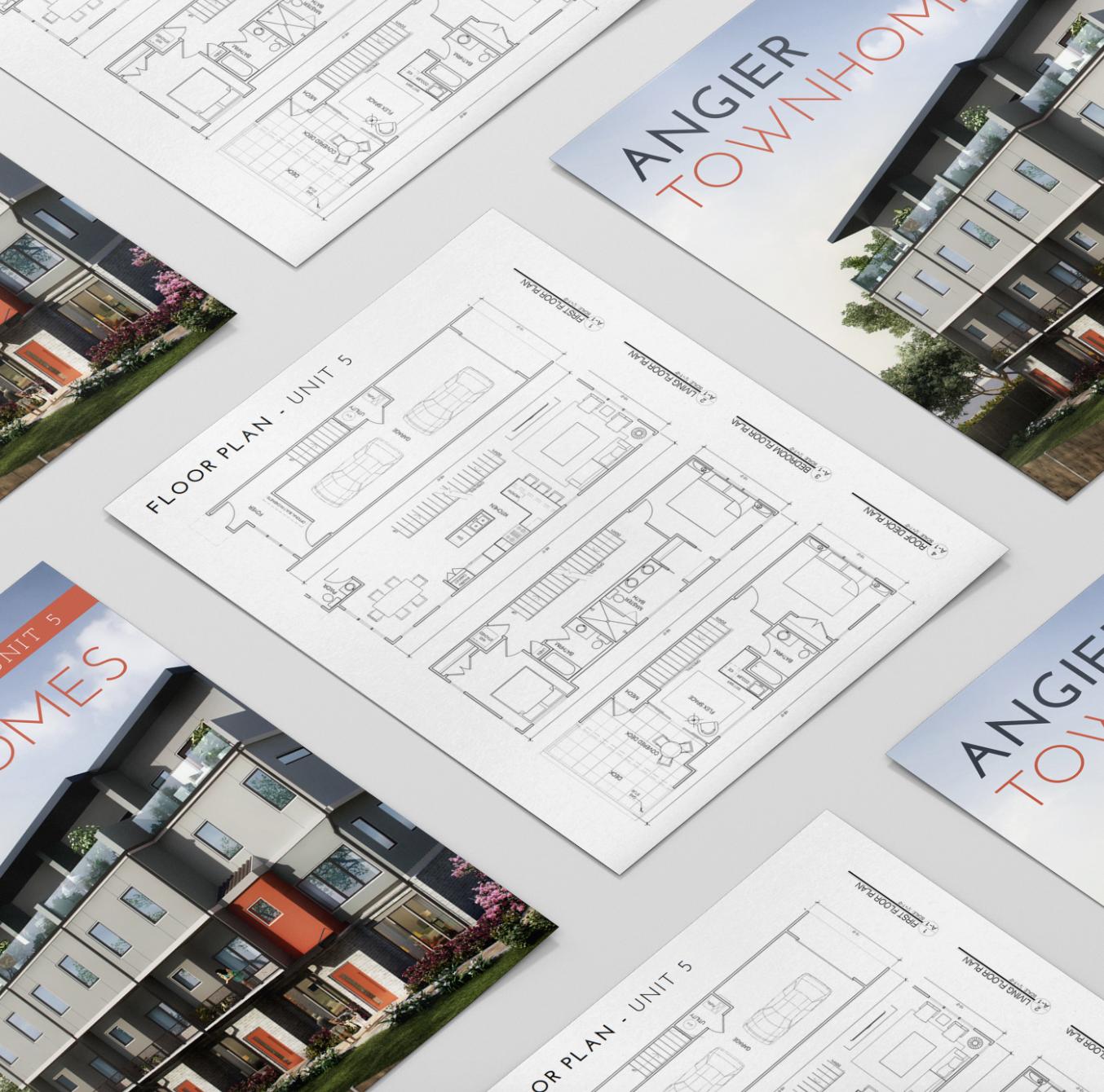Floor Plan Brochure - Cover Design, Floor plan Page, Agent/Contact information. $50