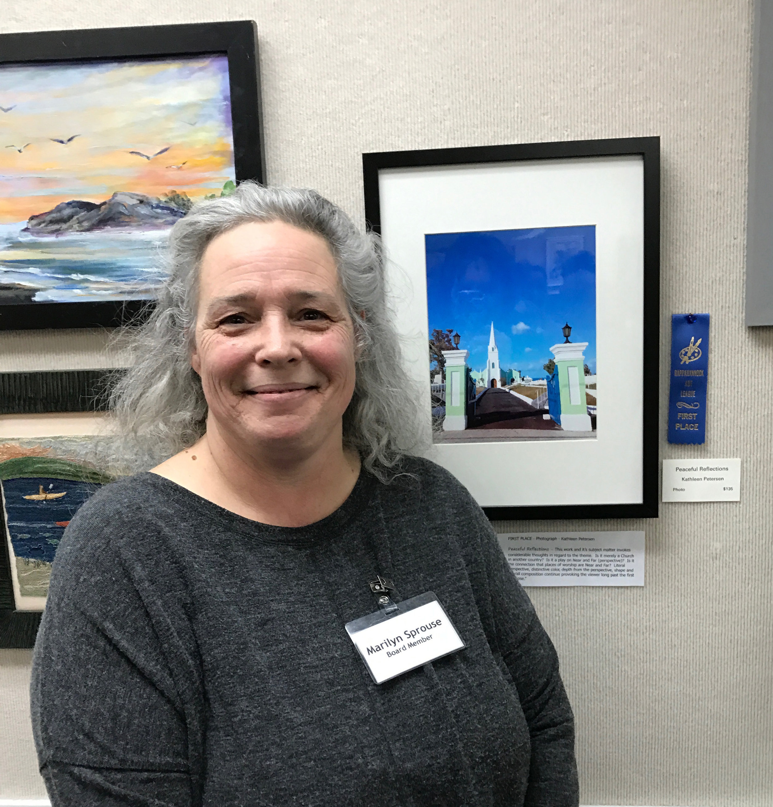 Judge, Marilyn Sprouse, with winning photograph
