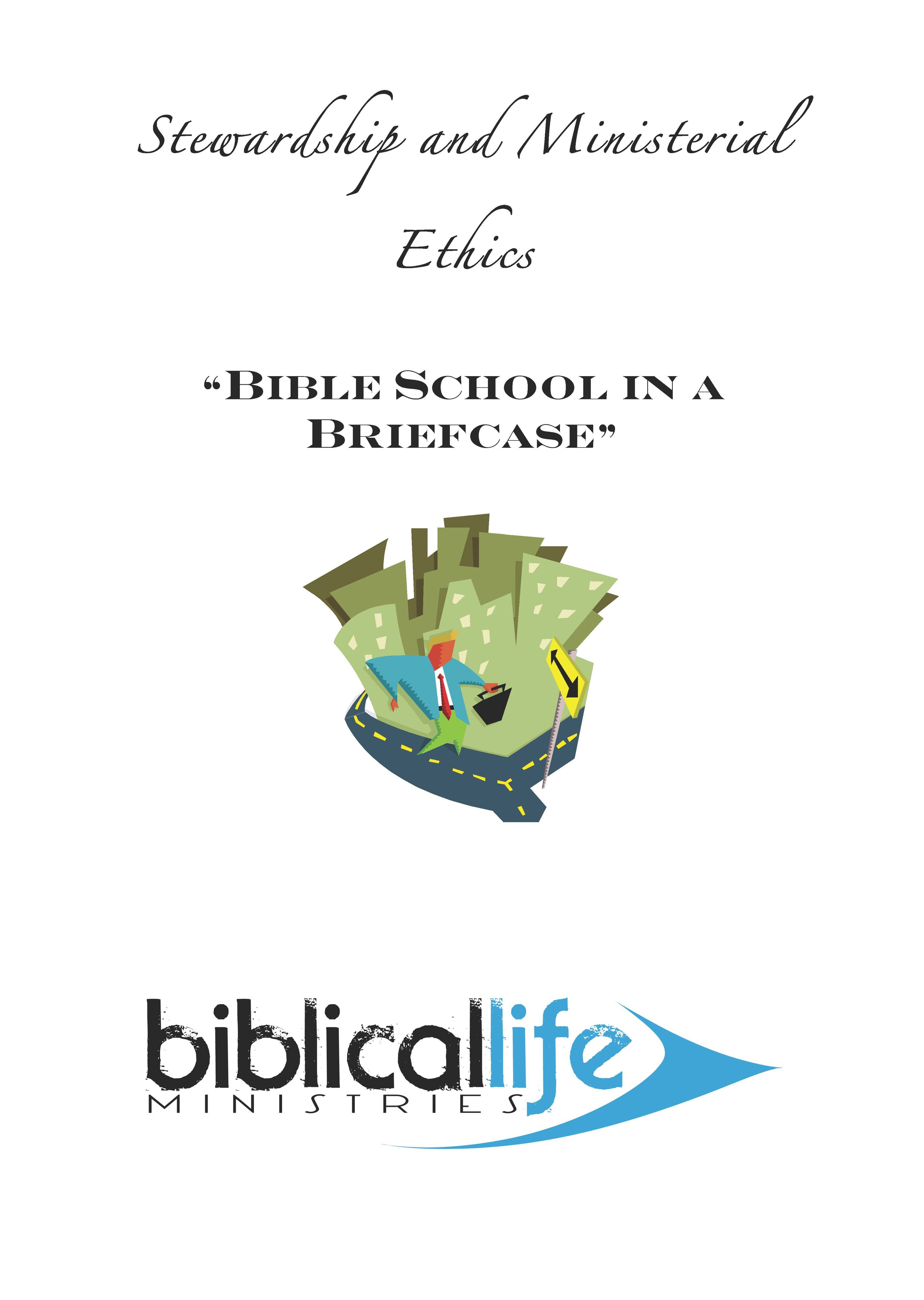 Stewardship and Ministerial Ethics  : This class look at financial principles in the Word of God, how they can be applied in ministerial life, and how ministers of the gospel should behave themselves with money, with those outside the church, with those inside the church, and with each other. 51 page manual.