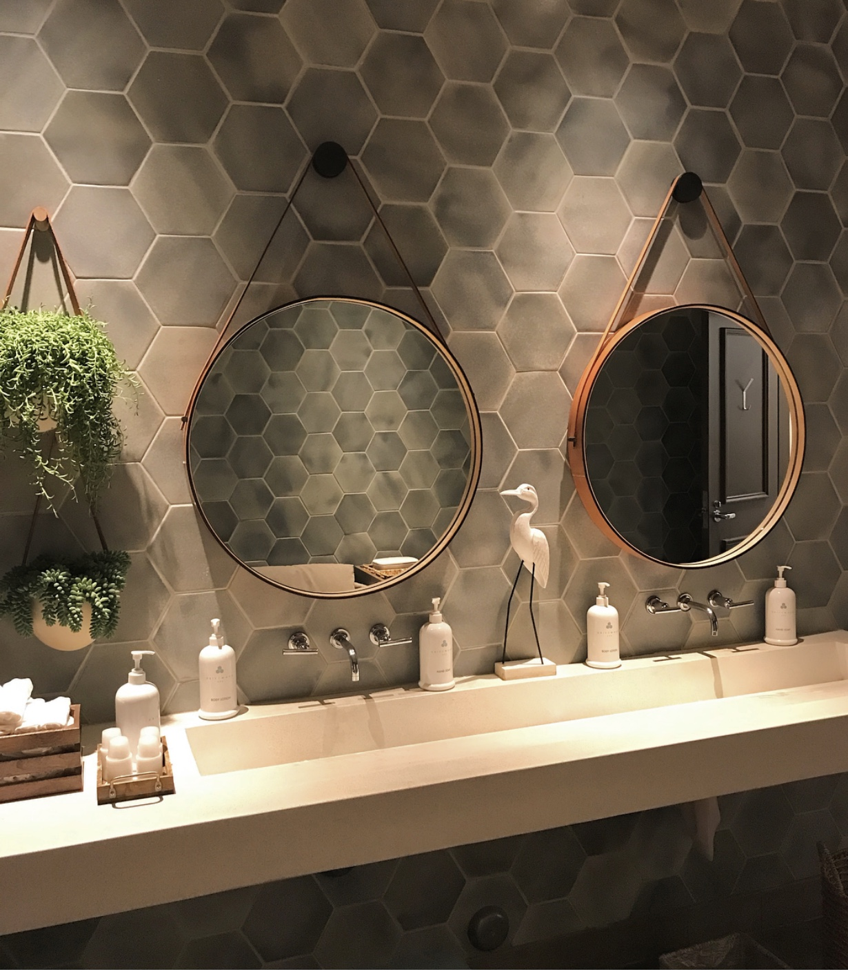 bored with subway tile, 3 options you'll love hex tile in bathroom interior design, B. Clark Interior Design Lake Oswego, OR