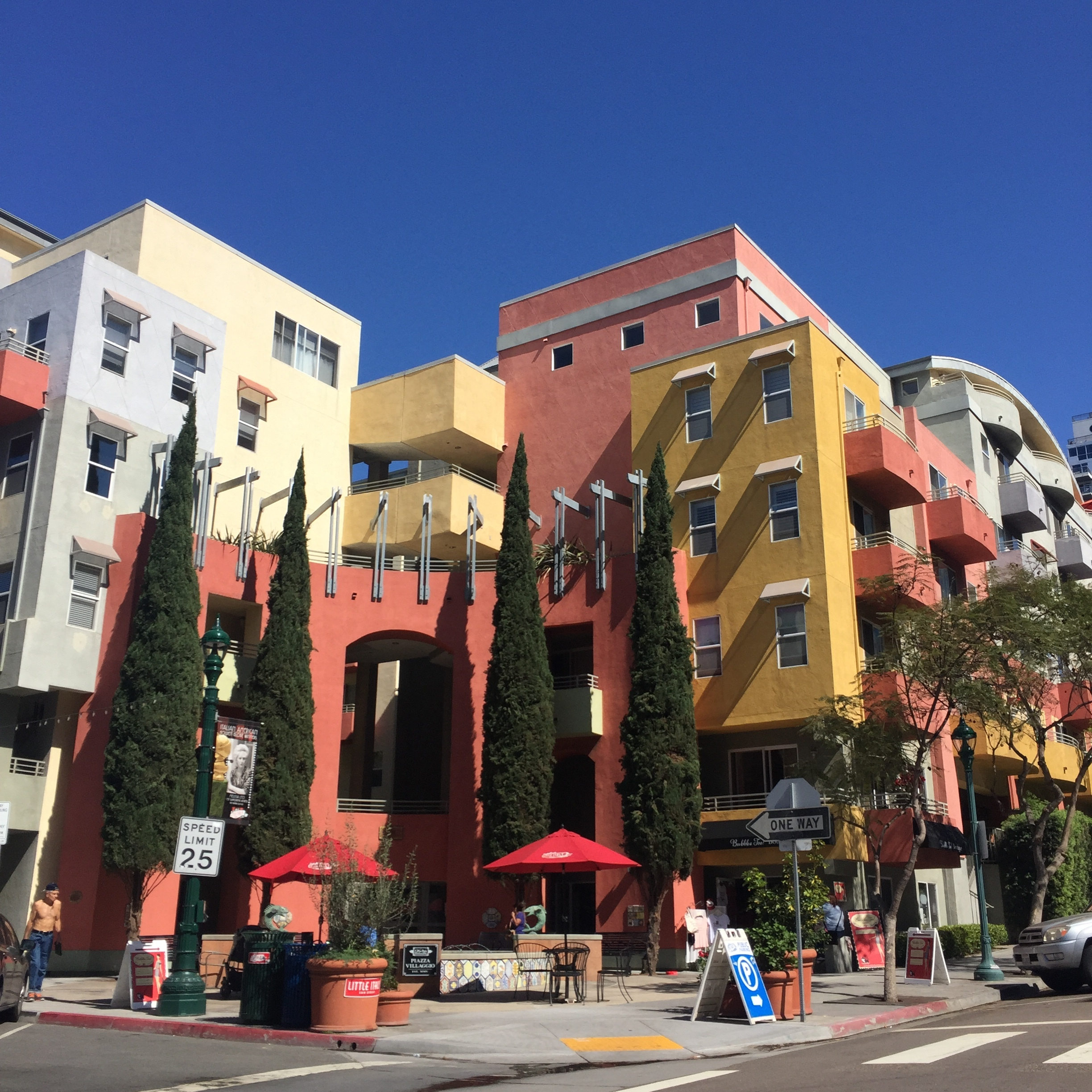 We began by cruising through colorful Little Italy.