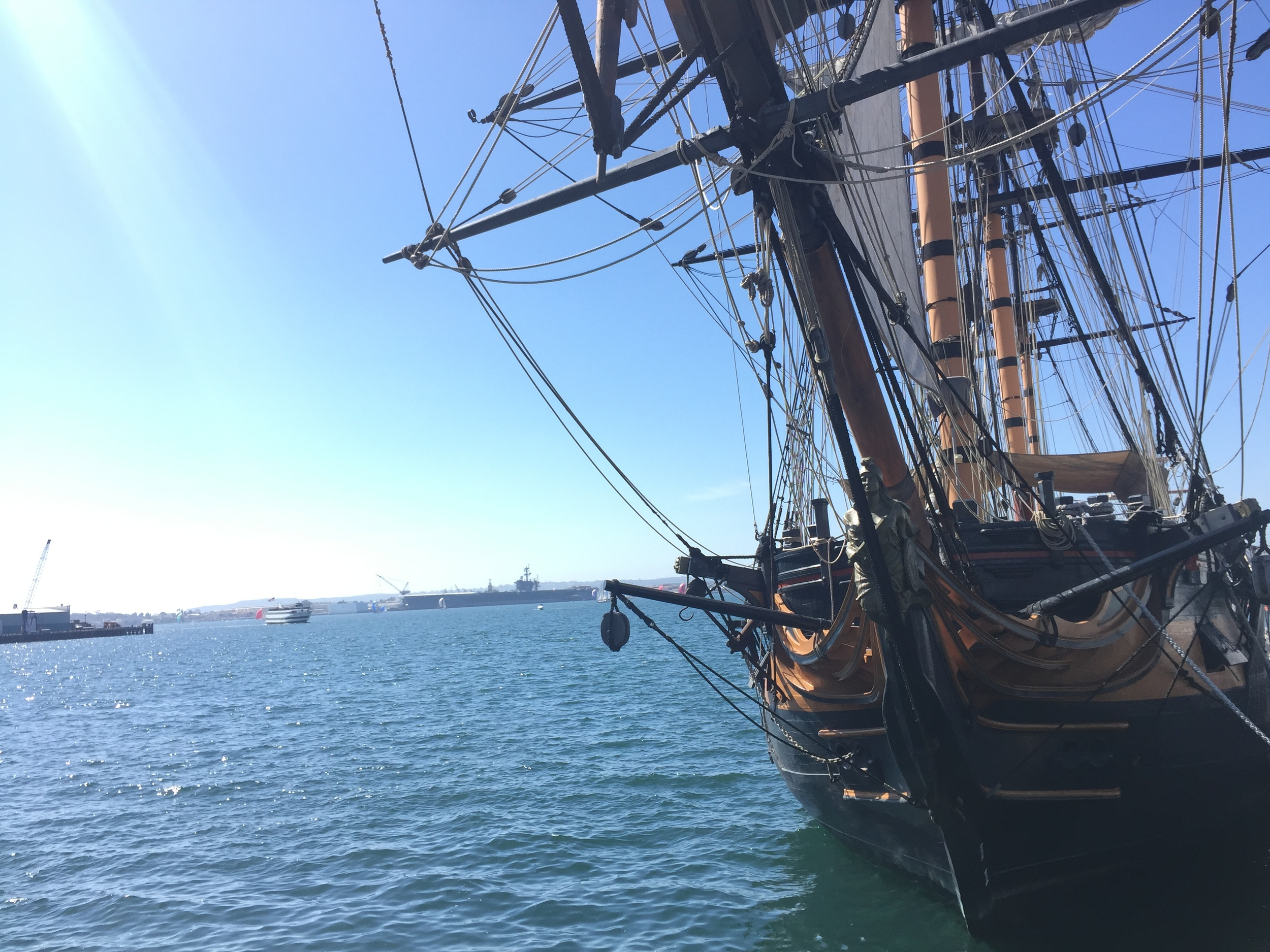 Then we zoomed our way to the bay, where we were able to snag some pictures outside the  San Diego Maritime Museum .