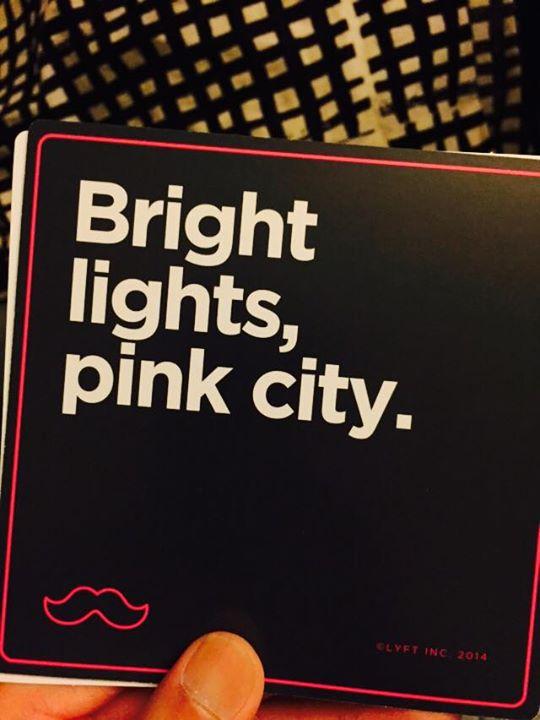 bright lights pink city
