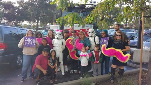 Drivers in Silicon Valley took the opportunity to participate in a toy drive for children.