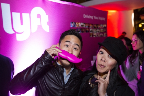 In South Beach, Miami, Lyft enthusiasts posed with our glowstache.