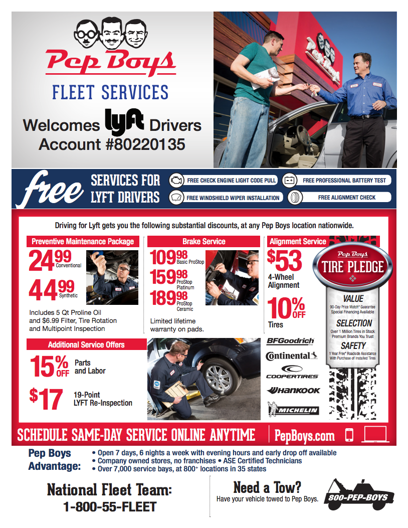 Pepboys Promo Code >> Get Free And Discounted Services At Pep Boys The Hub
