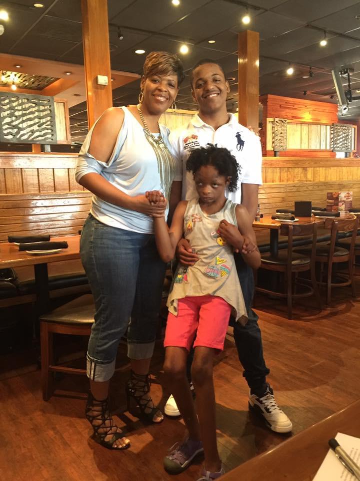 Paula and her two amazing children.