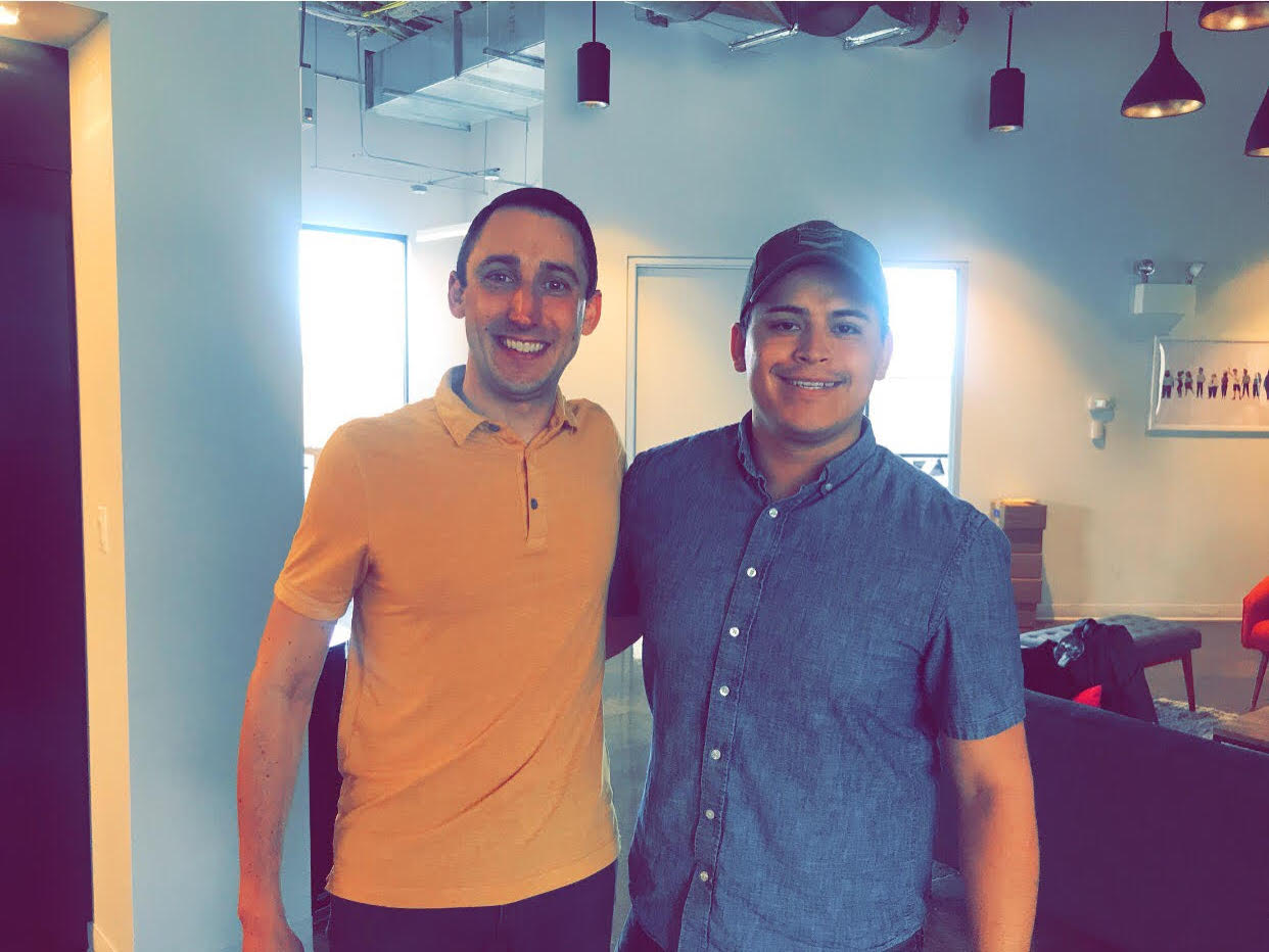 Lyft's Chicago GM David Katcher with Jose, the Driver Advisory Council member for the Midwest