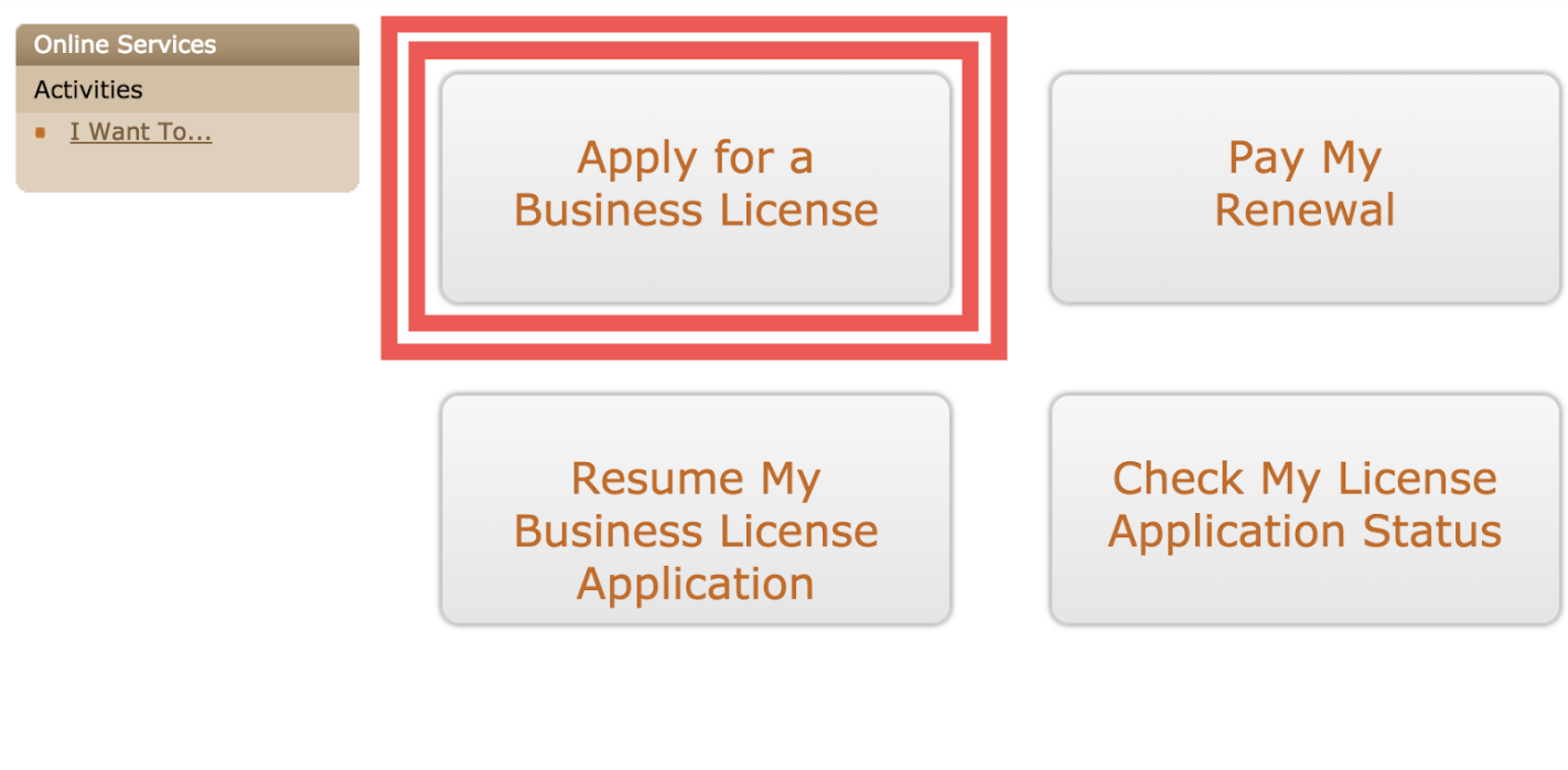"""Start your Application: - Start your application online by visiting the Driver-Independent Contractor application website and selecting """"Apply for a Business License"""""""