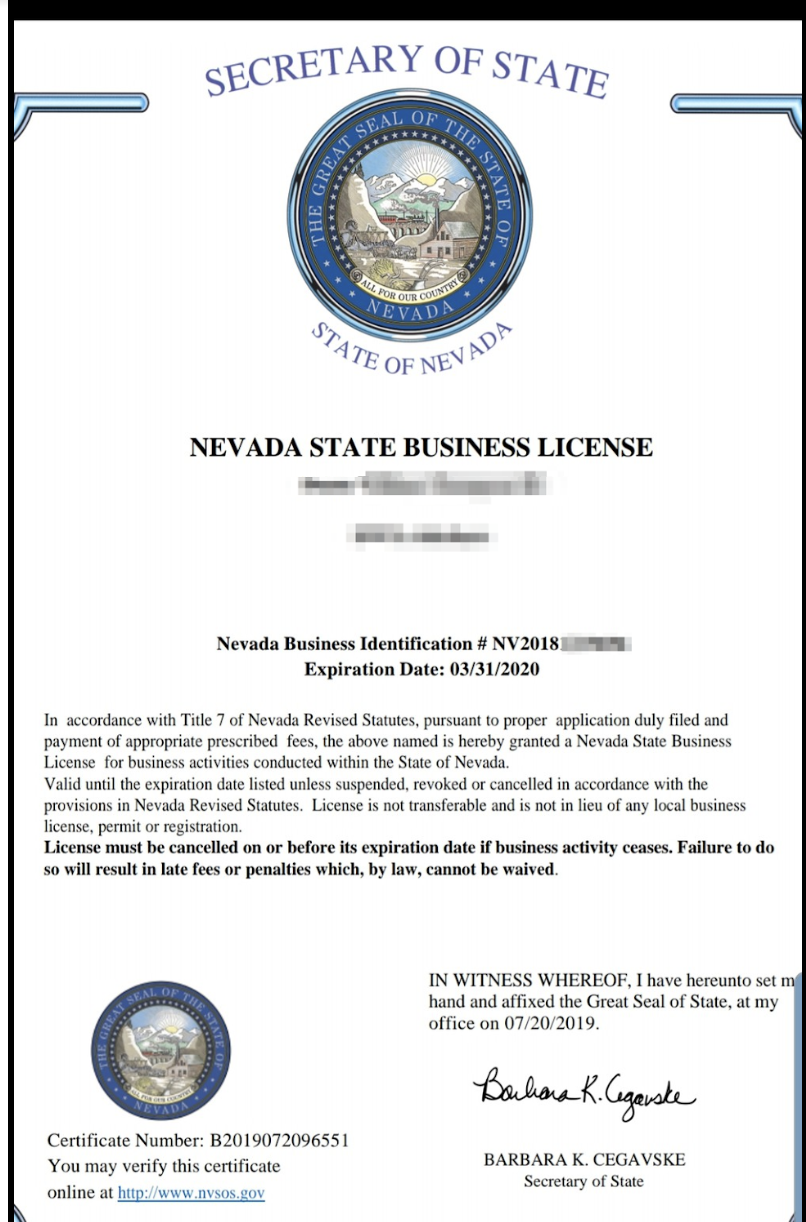 Nevada Business License How To The Hub