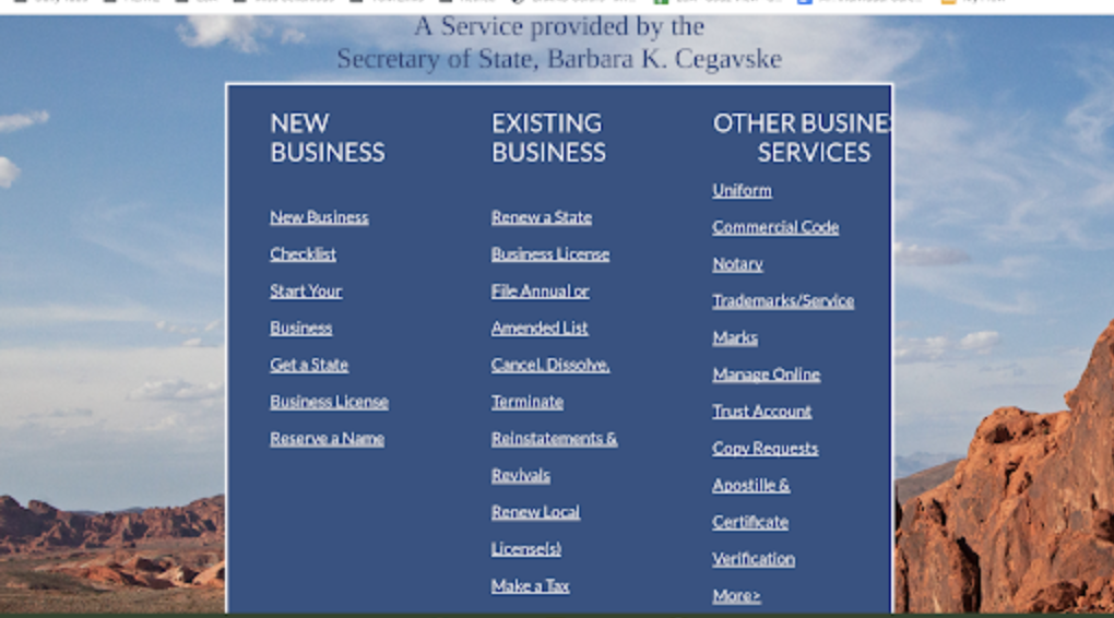 Select your Type of Business -