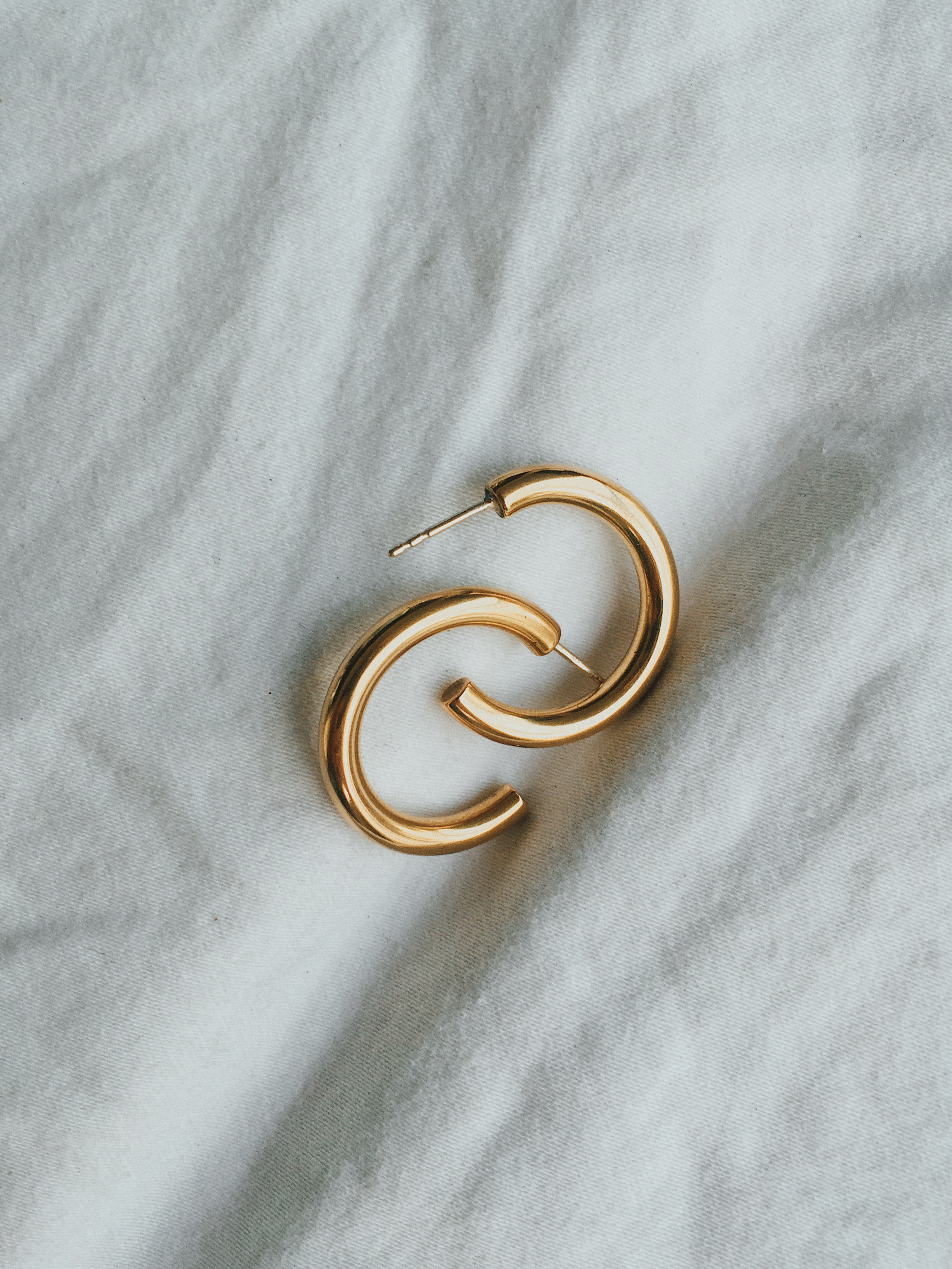 Copy of raw brass minimalist hoop earring