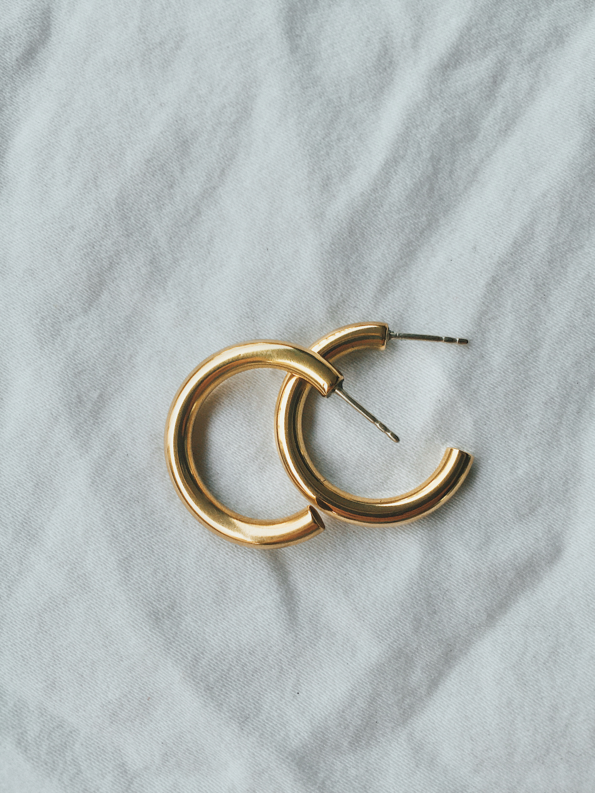 Copy of sterling silver  minimalist creole earring