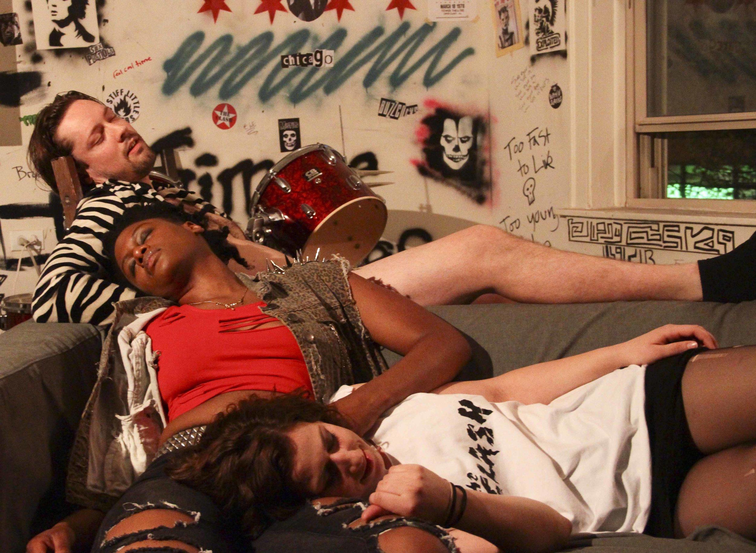 Adam Huizenga as Zig, Tarina Bradshaw and Cyn, and Alicia Jade as Nat
