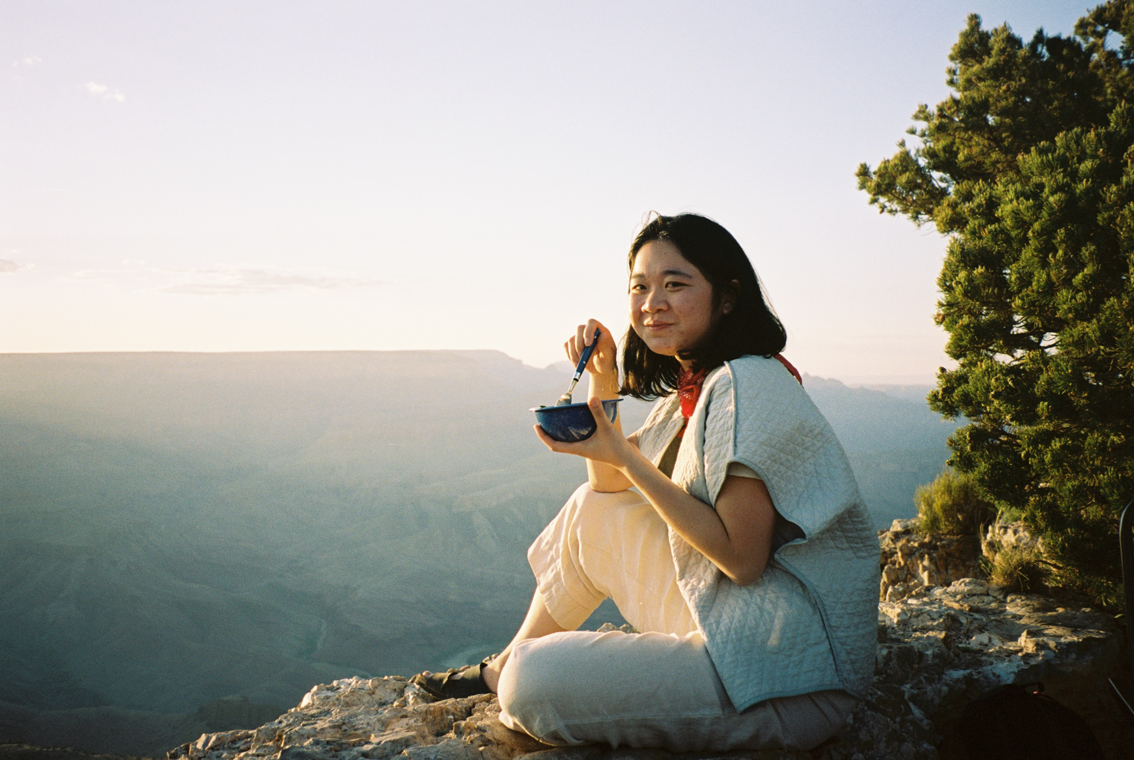 Jennelle overlooking the Grand Canyon, 2017.