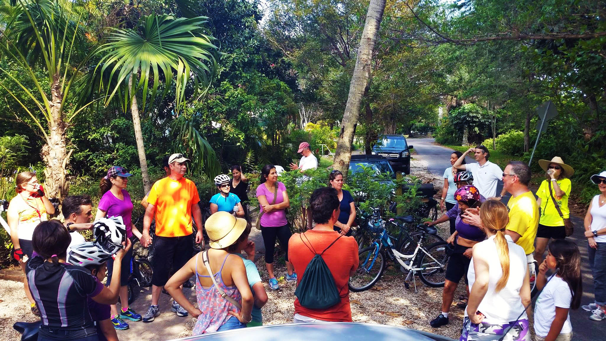 Guided bike tours and group runs, including a look at local edible and native gardens