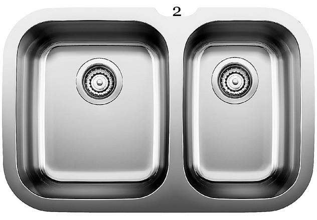 2 Blanco Niagara U 1 ½ Double Undermount Stainless Steel Sink (400750).jpg