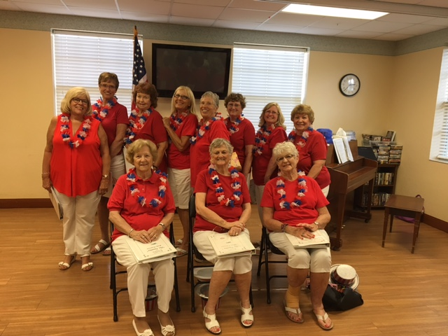 The Tonettes - The Tonettes visited the Douglas-Jacobson Veteran's Home in Port Charotte, May 16,2017, to perform their patriotic program. The Veterans love to sing along with them.