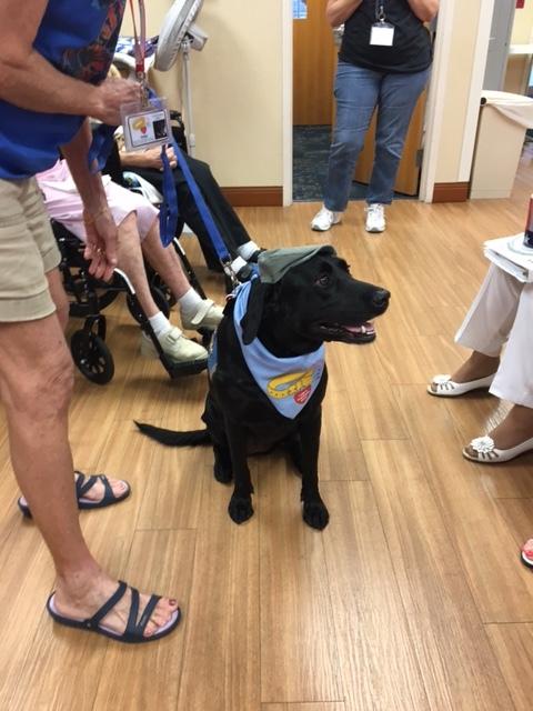 - A service dog enjoyed the progam TOO!