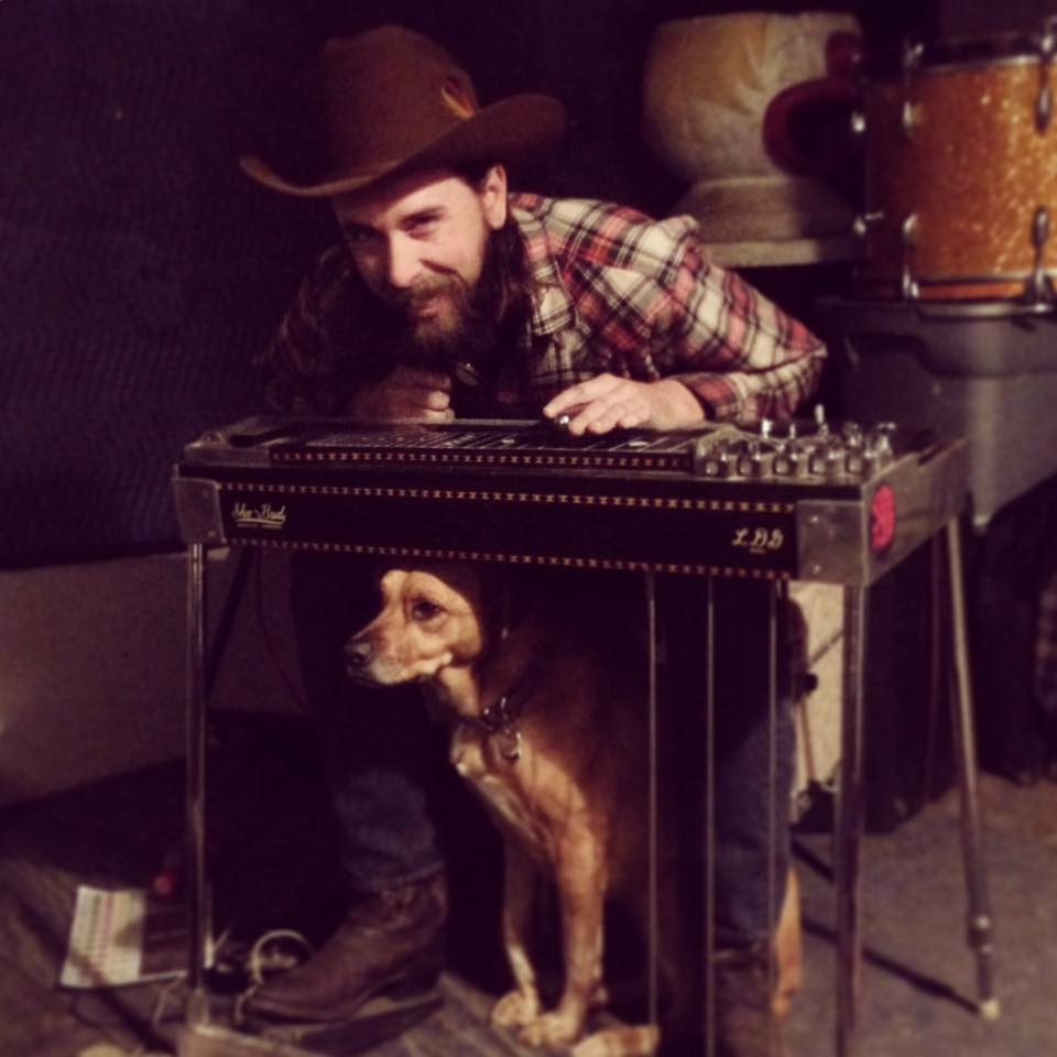 Dave Barker plays pedal steel guitar