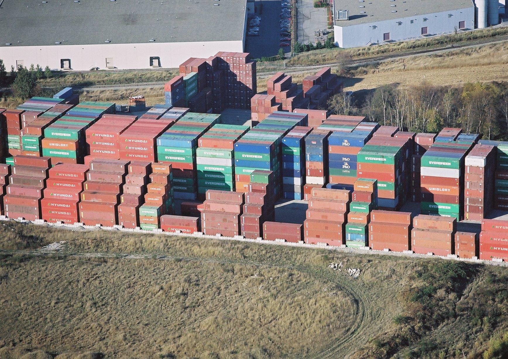 Delco Delta Container Yard Aerial