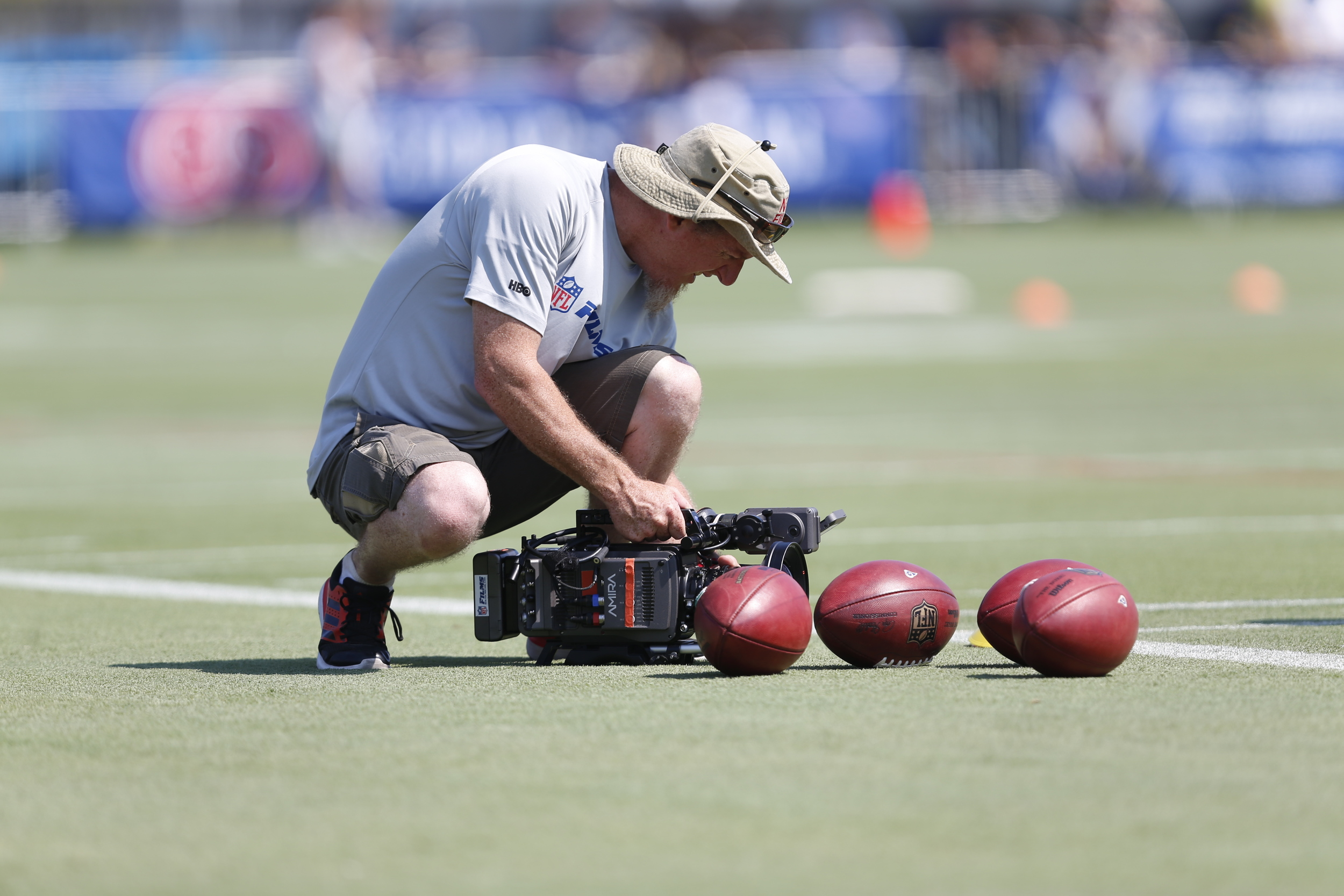 NFL Network getting some closeups of the balls.
