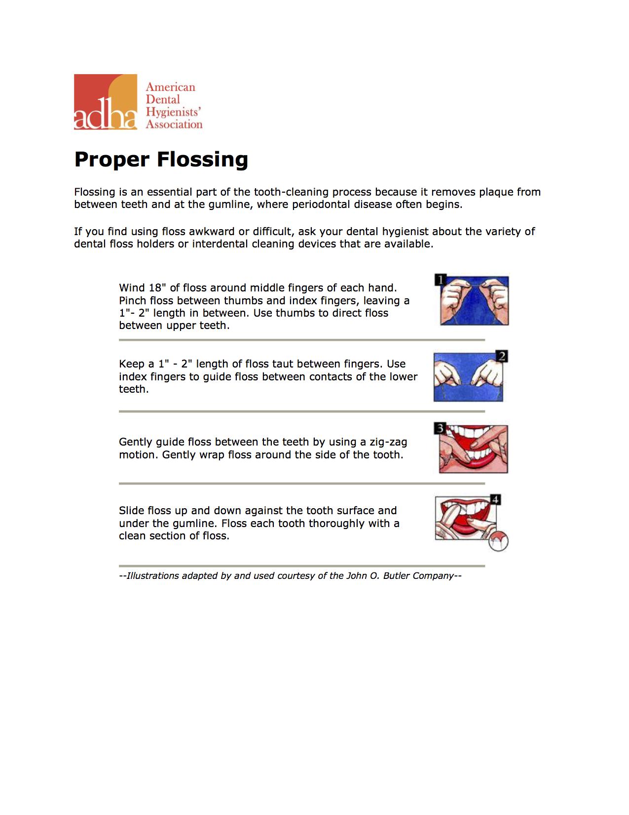 Proper Flossing Technique