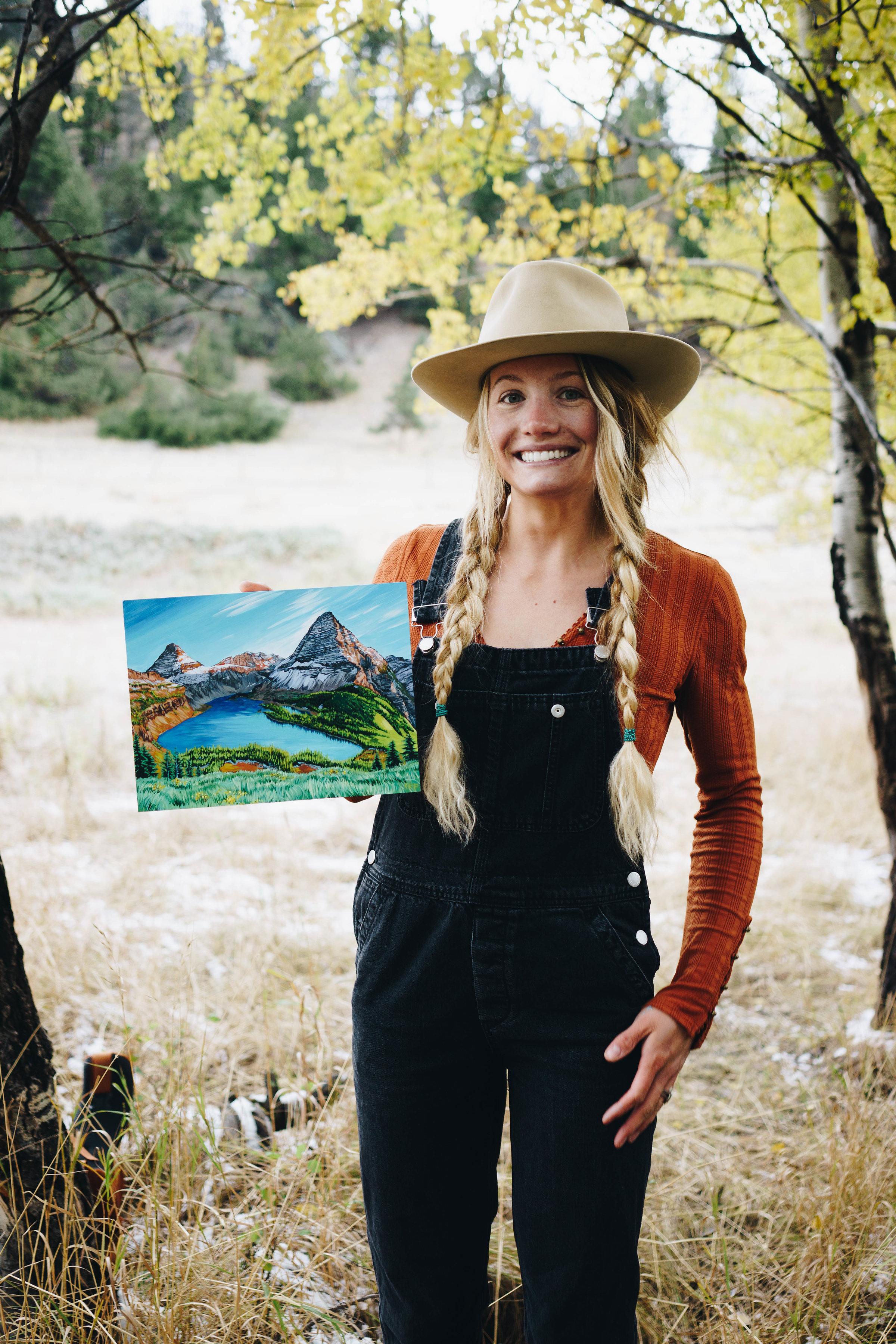 """""""Hidden Lake"""" Original Painting"""