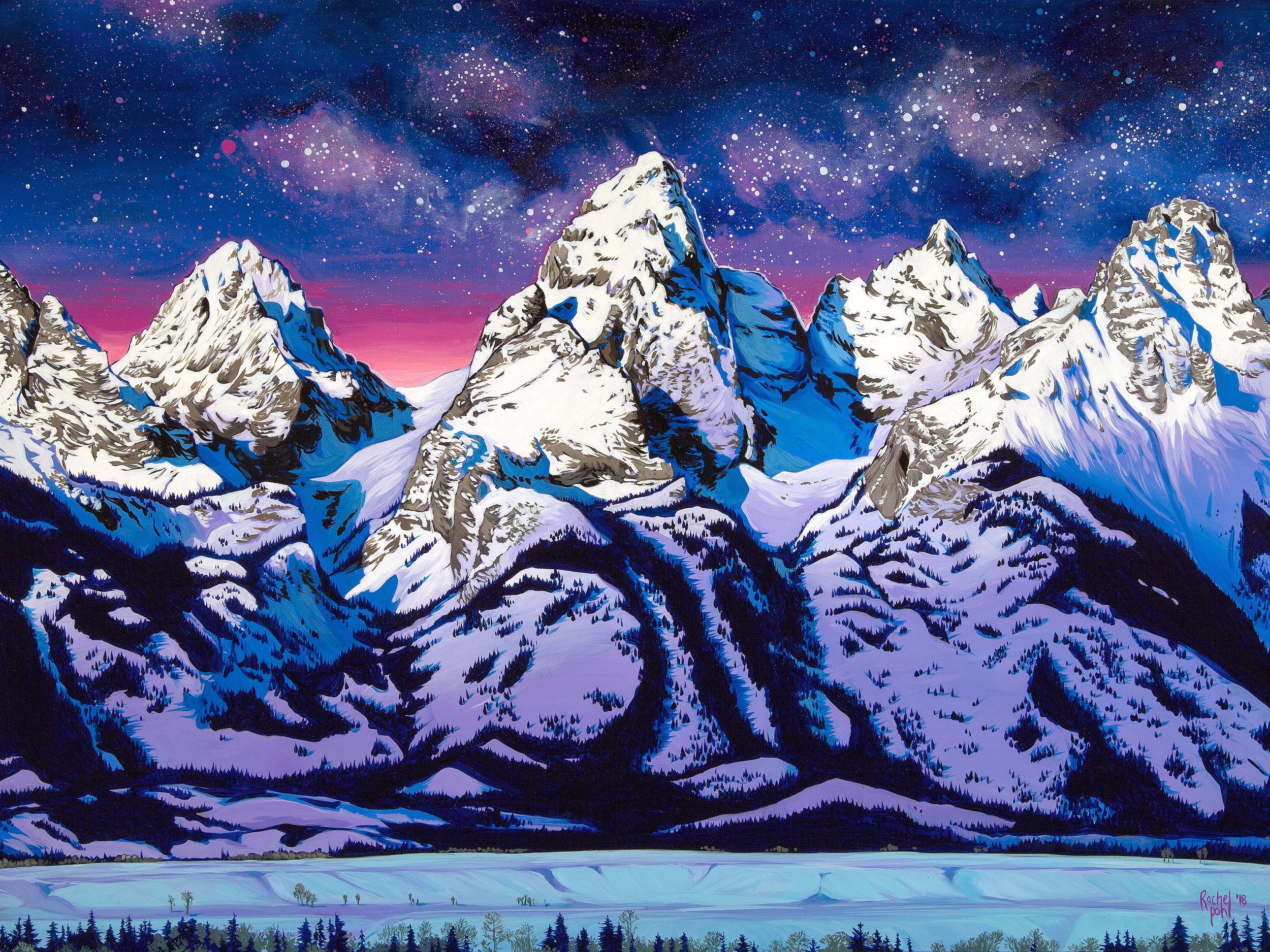 """Teton Moonrise"""