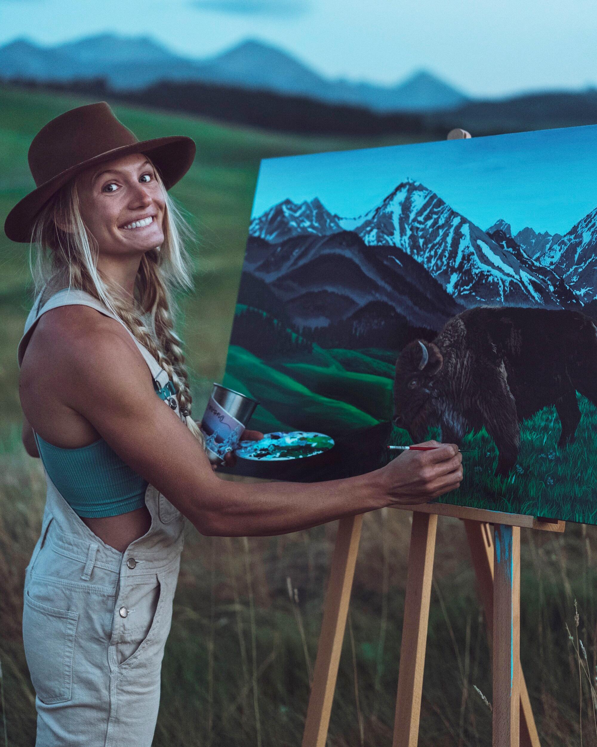"Painting ""Big Sky Bison"""
