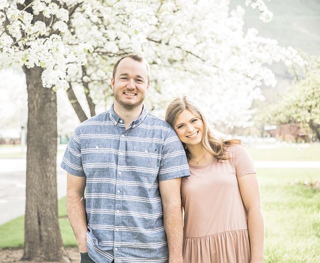 I've been dying to do spring blossom engagements for so long. Luckily Tyler flew in from NY on the ONE weekend without rain this spring! Our married/almost married siblings and siblings-in-law so far: Daniel, Taylor, Tyler, Katy, Caity, Jace, Tyler, Kylee 😂😂