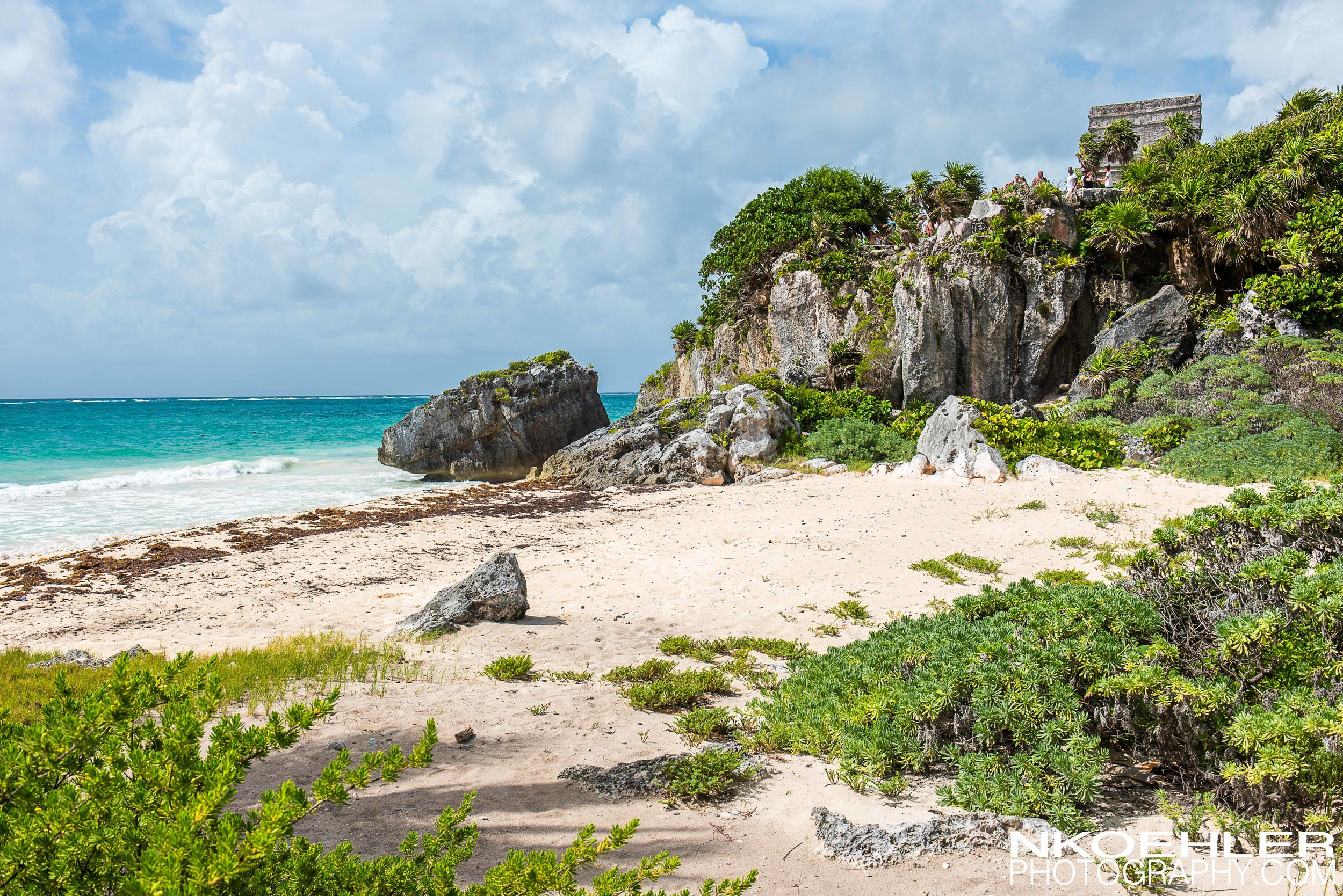 Tulum ancient mayan ruins on the coast of Mexico.