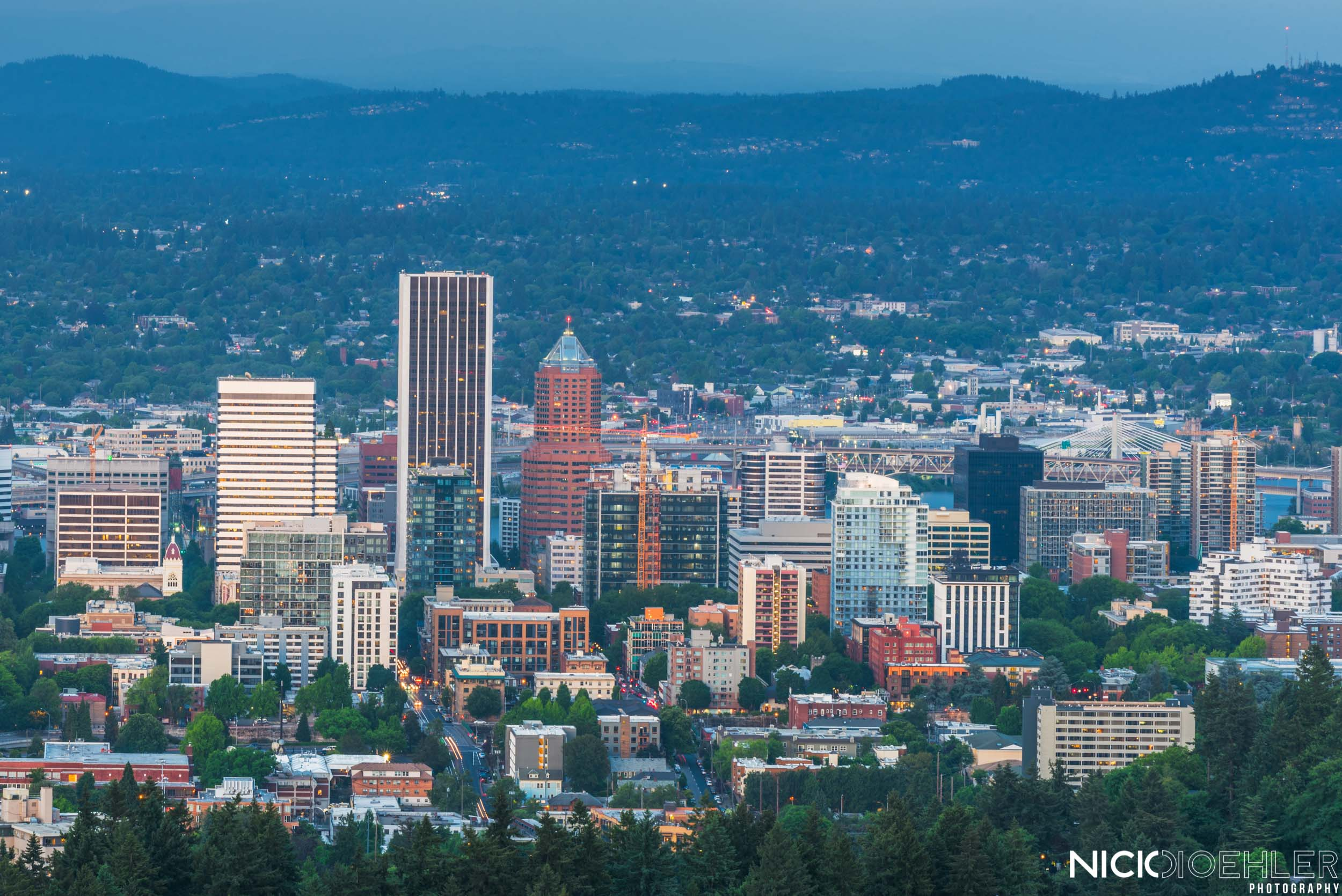 Portland, Oregon: The city skyline.