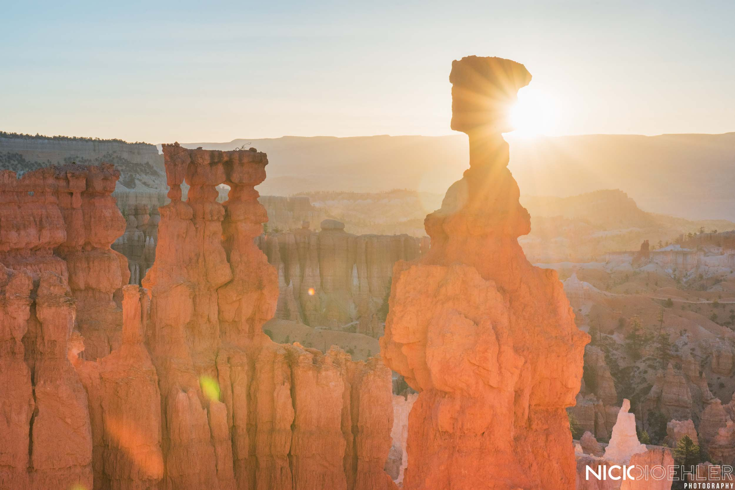 Bryce Canyon National Park: Sunrise over the layers of beauty.