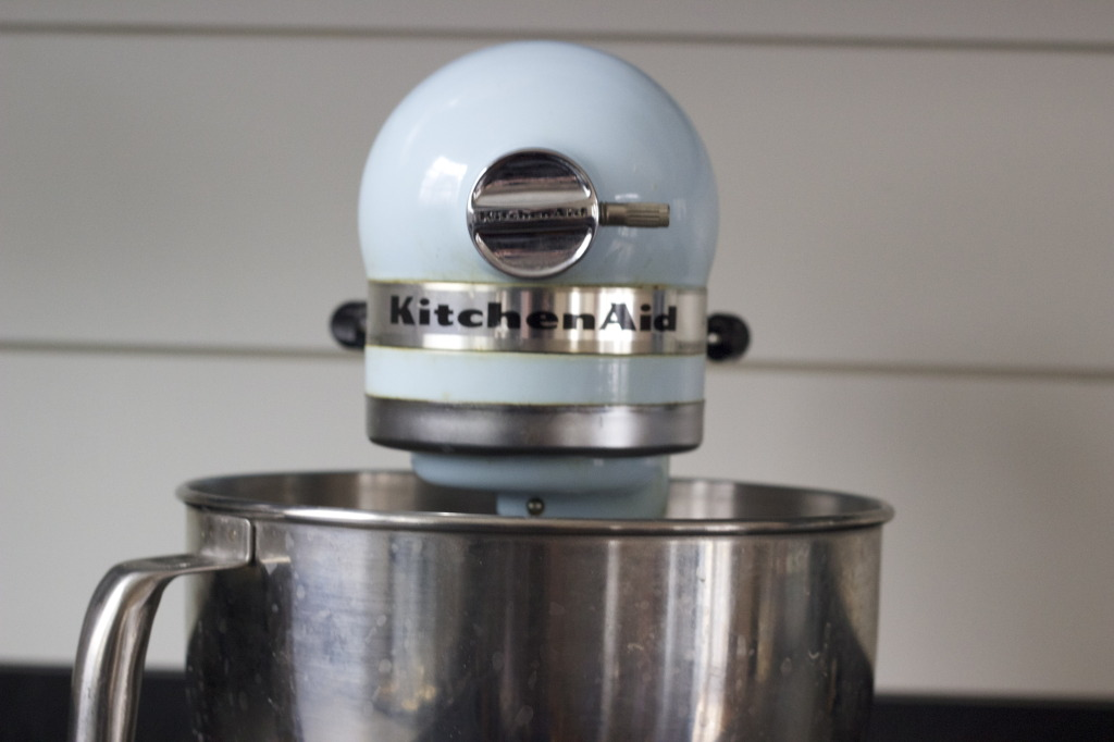 Dusting off the Kitchen Aid mixer