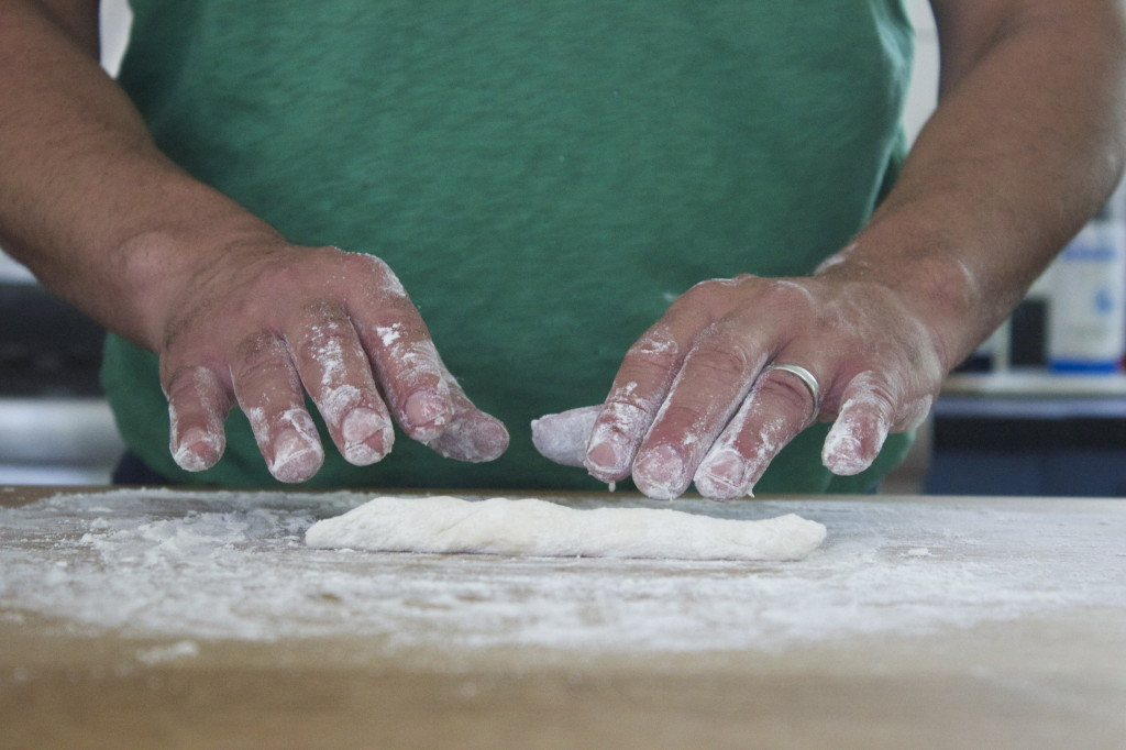 roll gingerly with both hands