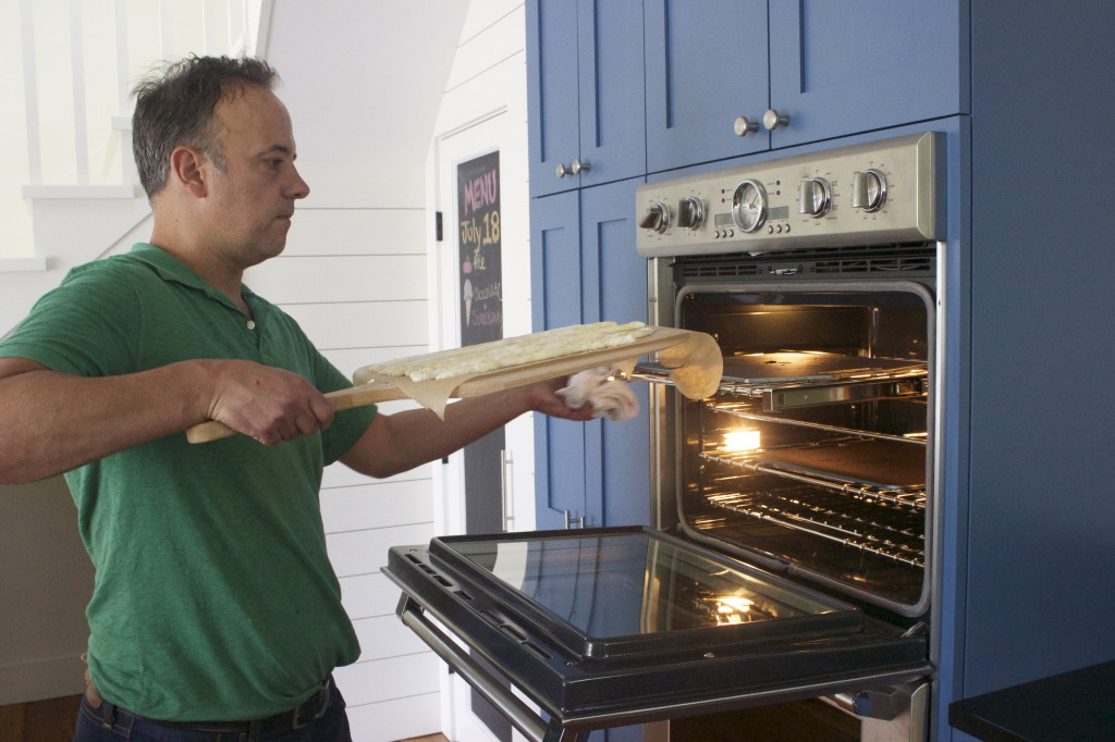 launch onto your pre-heated Baking Steel