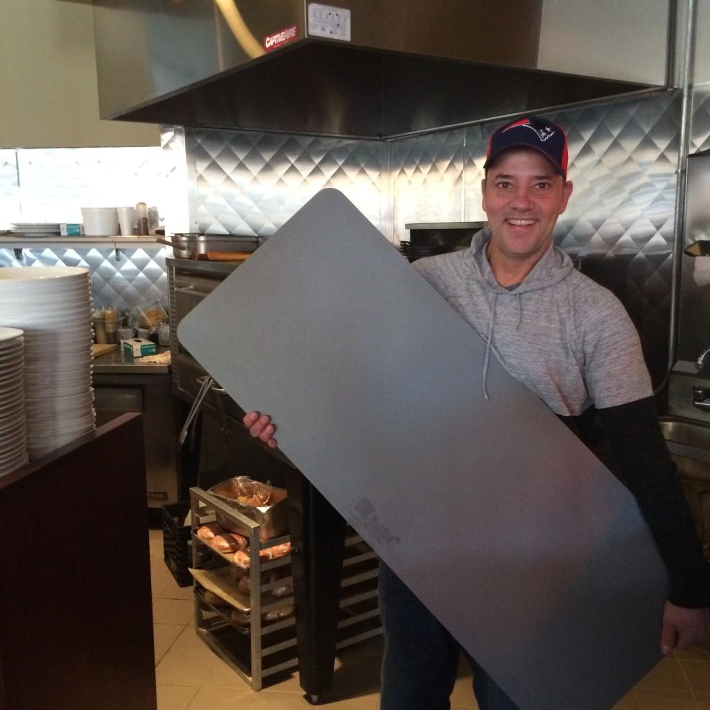 delivering a baking steel