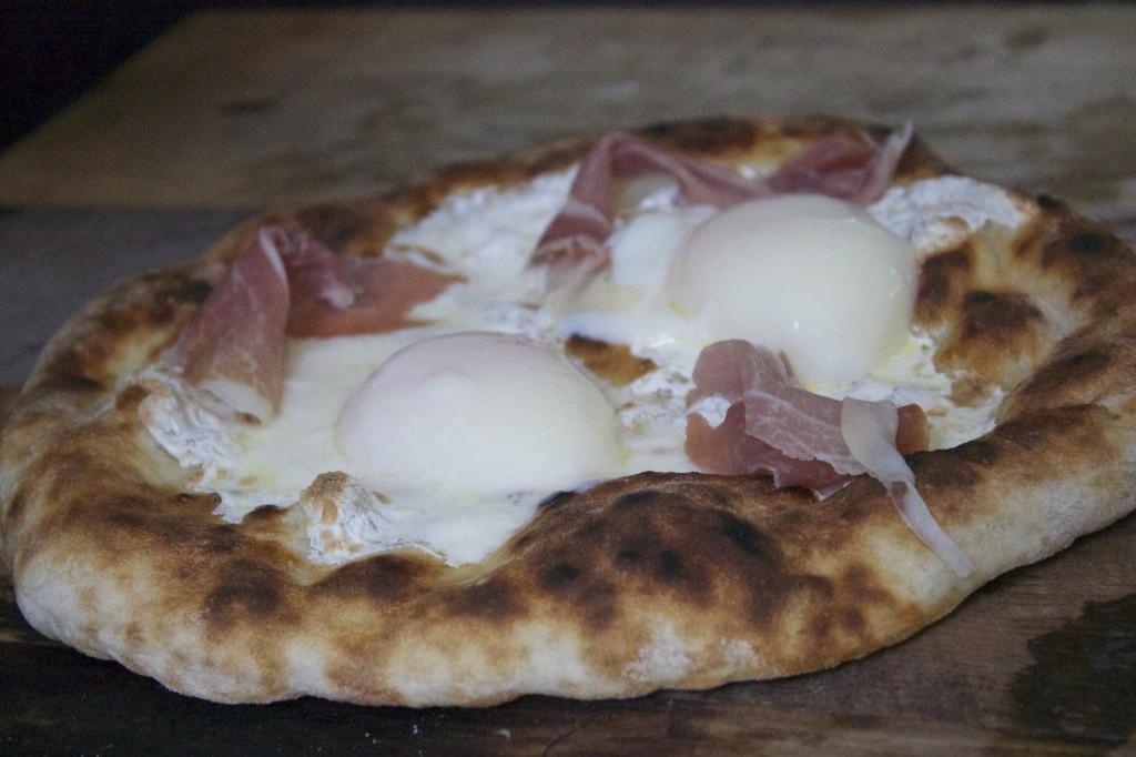 adding prosciutto