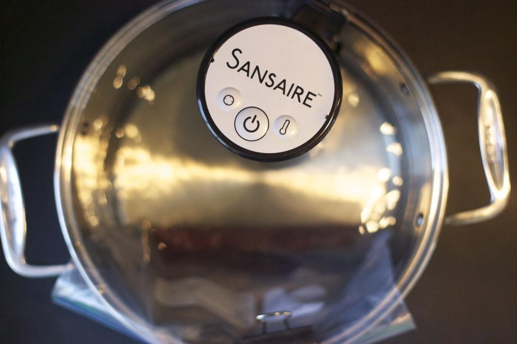 Sansaire and a hot steak bath
