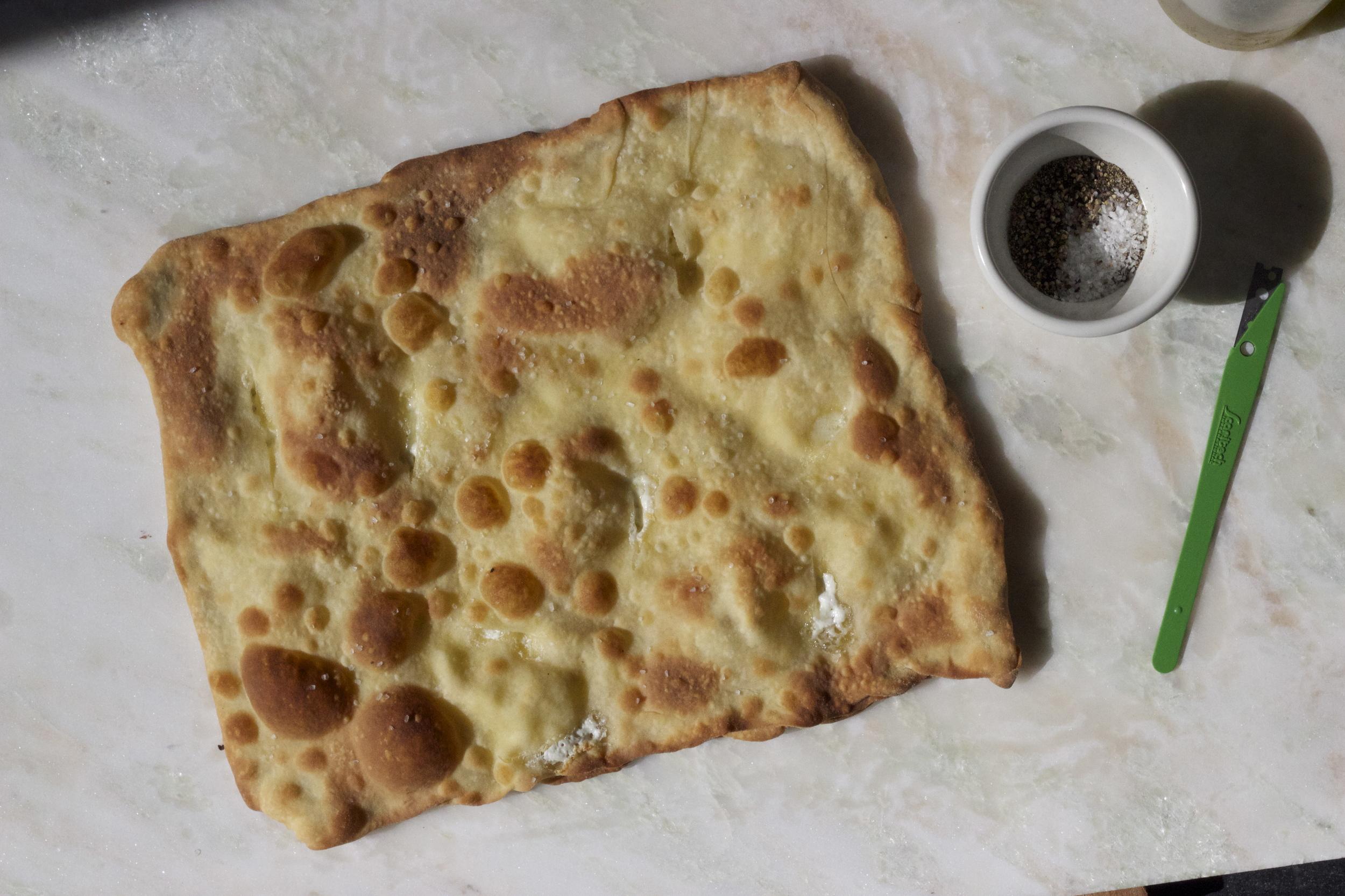 baked focaccia di recco
