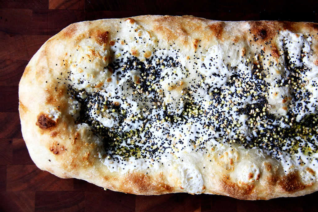 Pizza with seeds