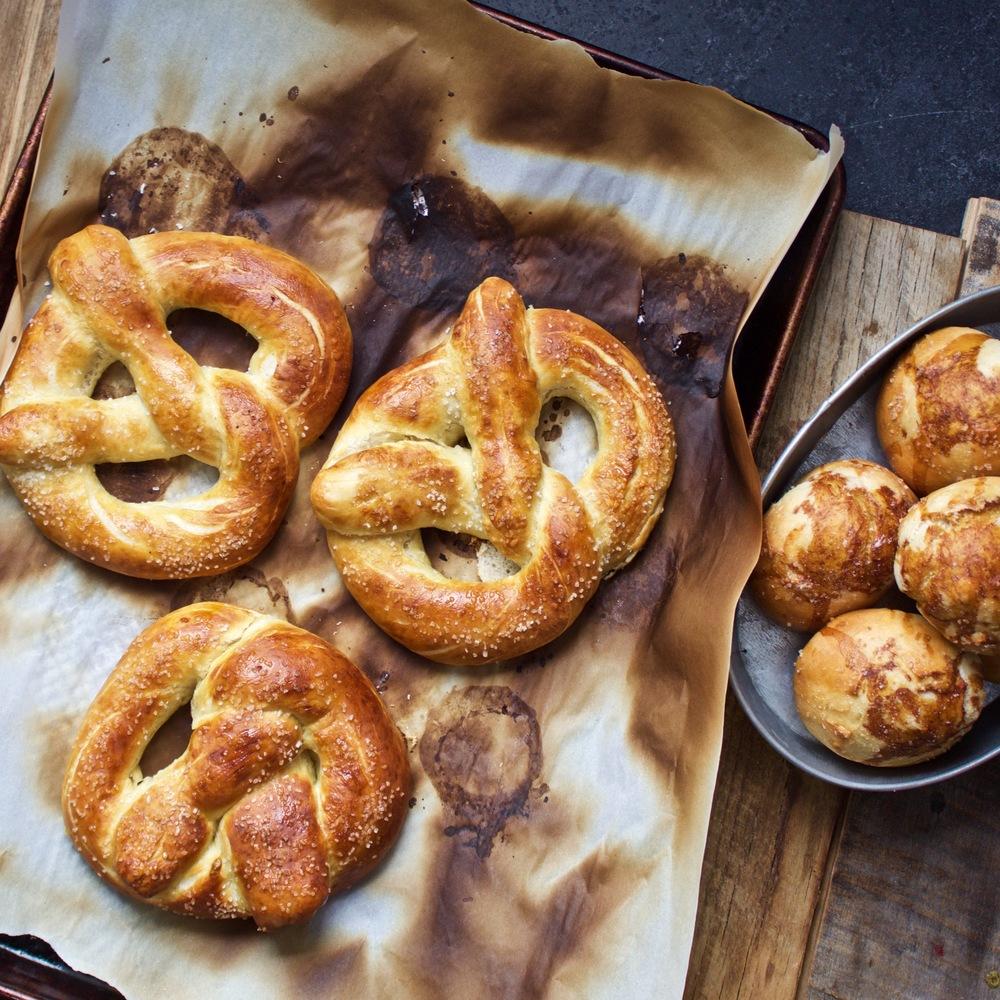pretzels and pretzel rolls