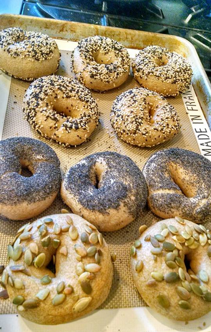Who doesn't love a good bagel?! Especially fresh & hot out of the oven...or in this case, hot off the #BakingSteel! Thank you to Jennie, for sharing these with us on our  Facebook page !