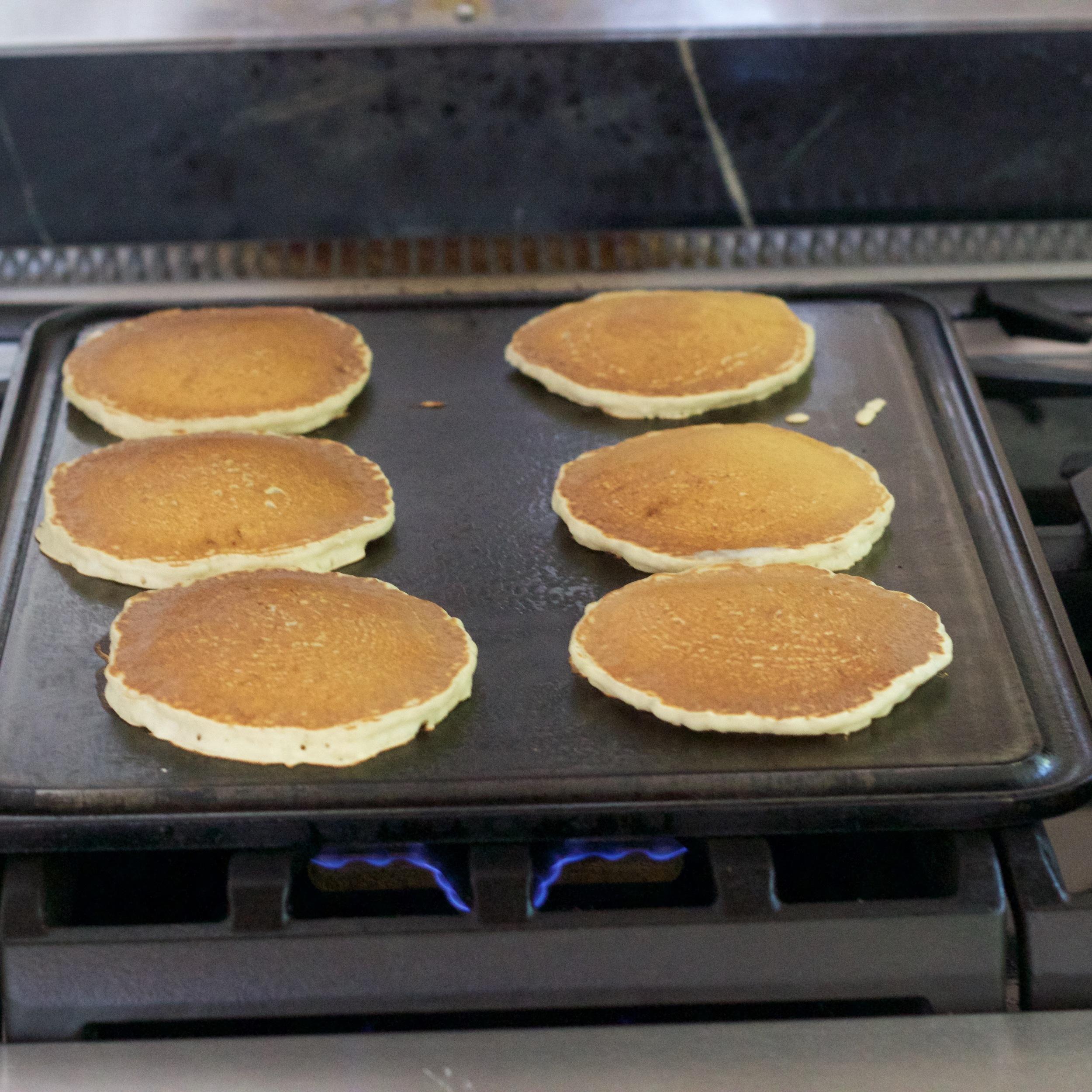 Pancakes on Baking Steel Griddle