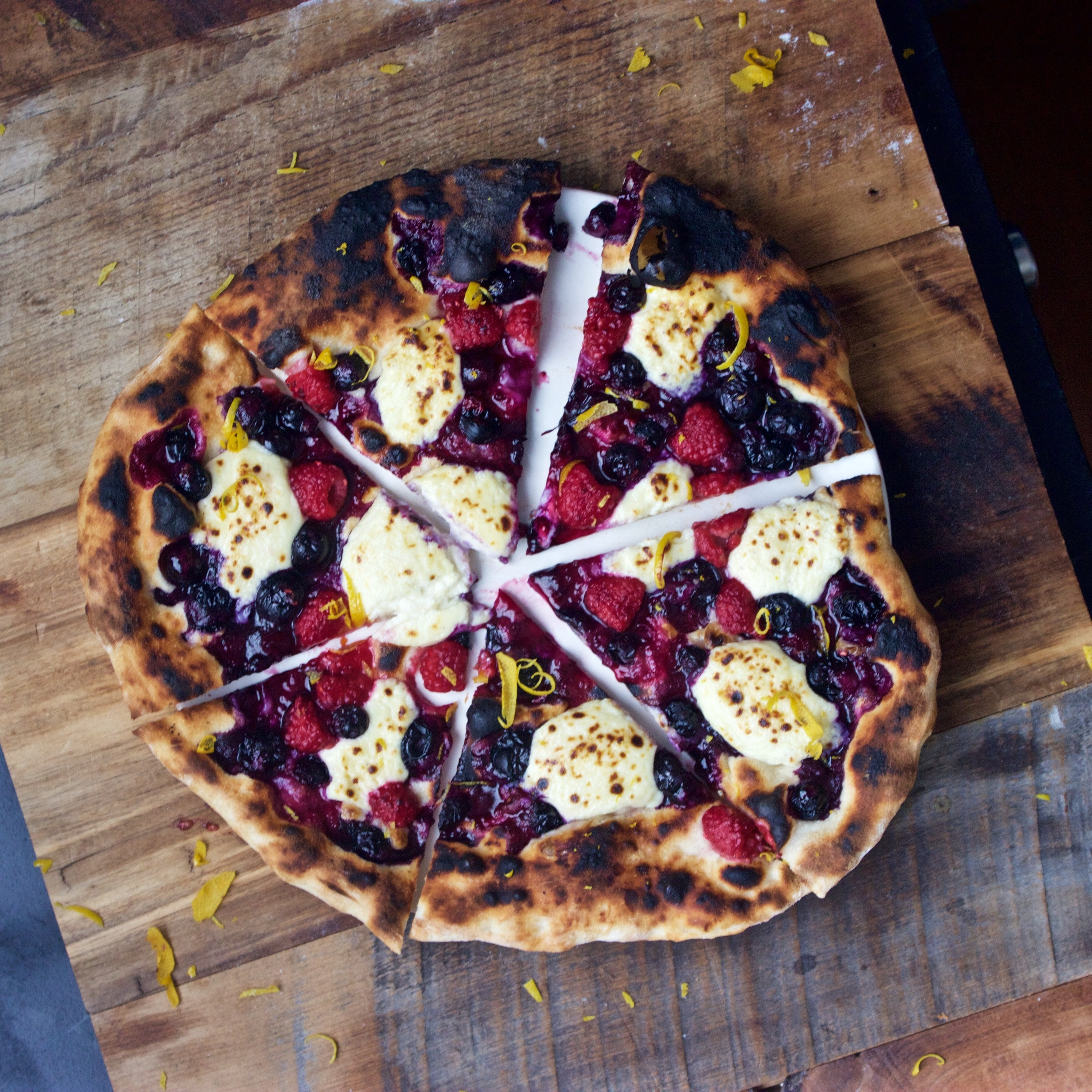 very berry pie out of the oven