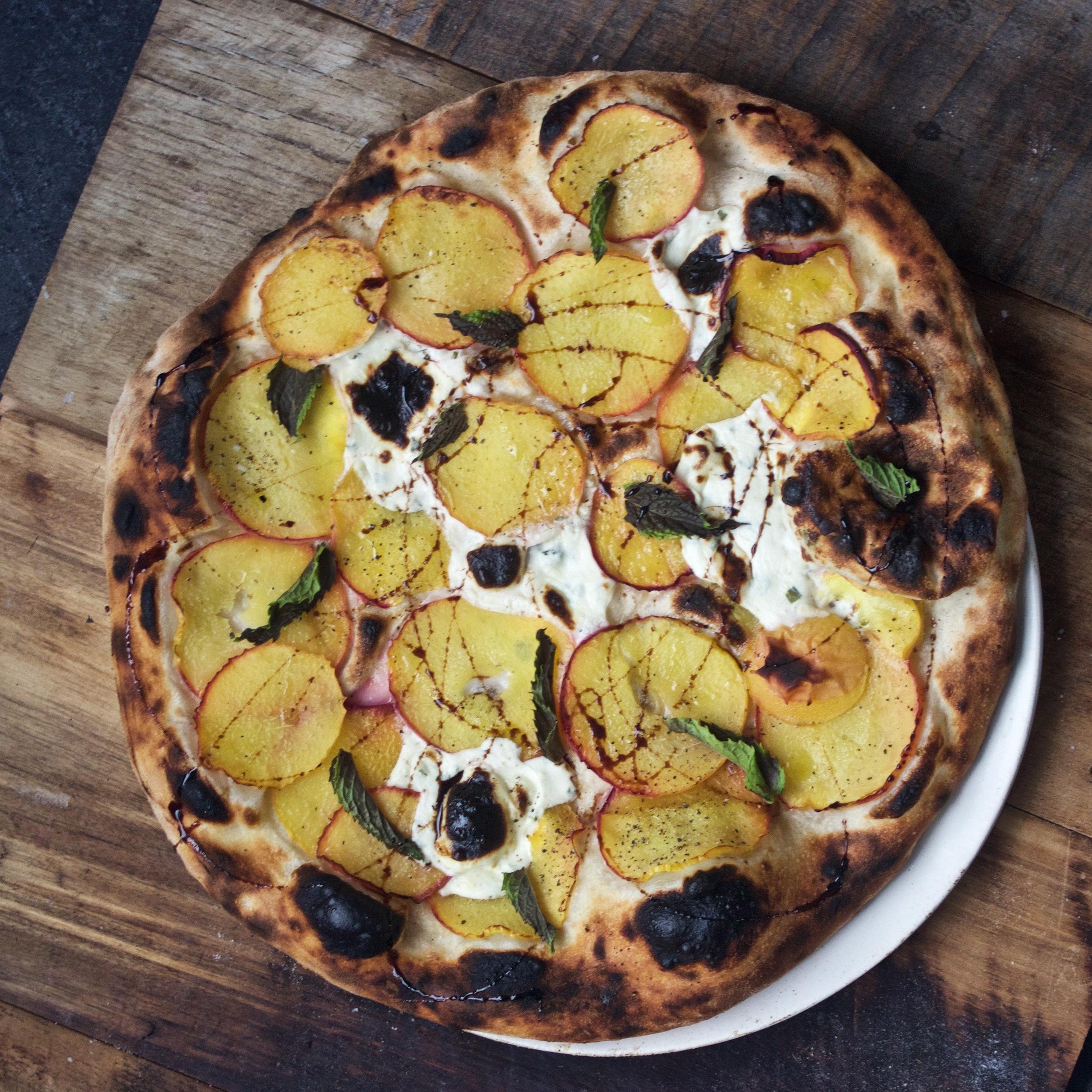 Peach Pizza at home
