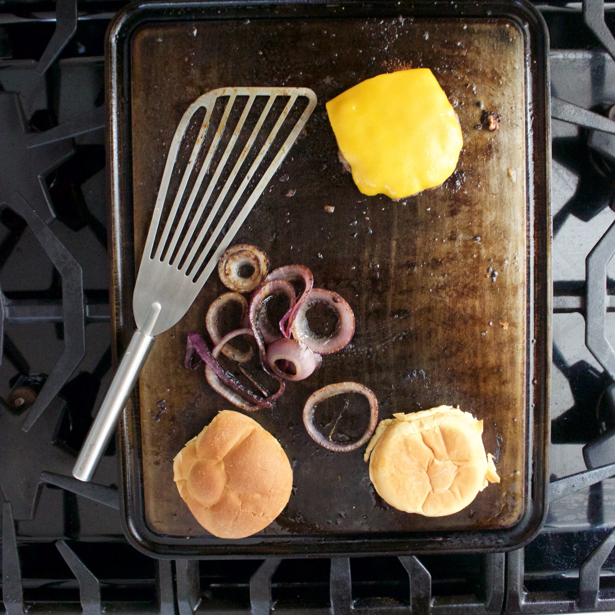 Burger on the Griddle