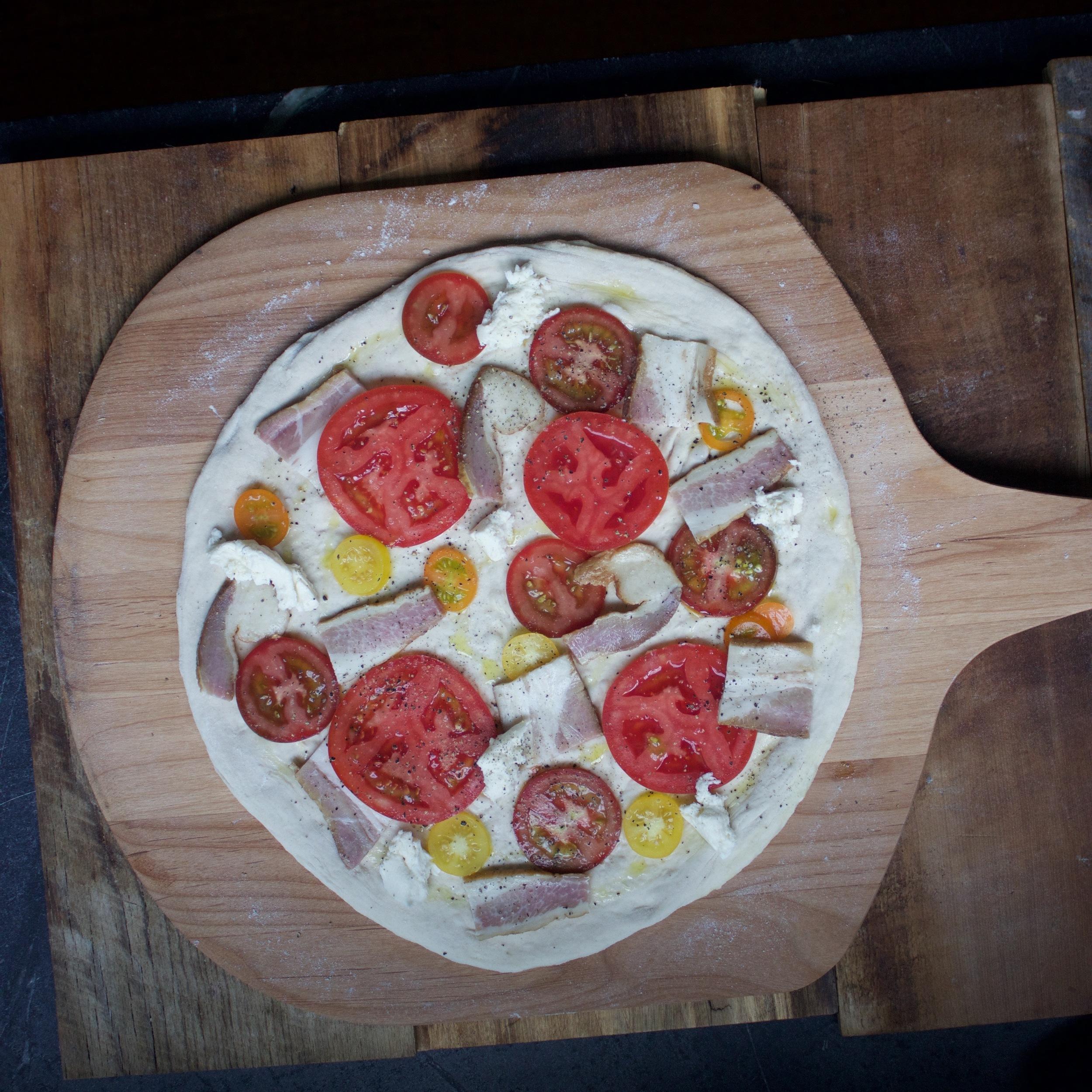 pre-launch BLT Pizza
