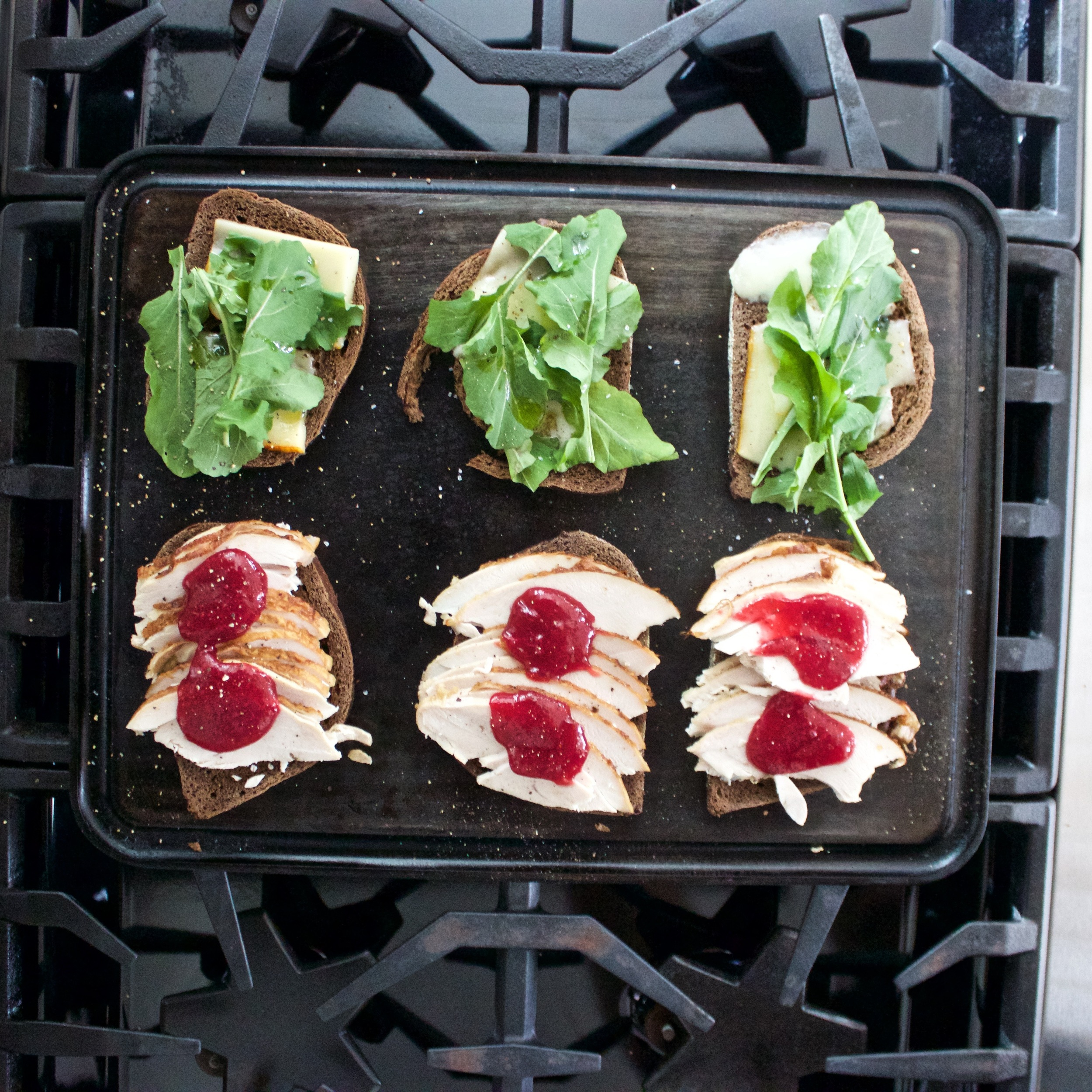 Thanksgiving leftover turkey sandwich, on the Baking Steel Griddle